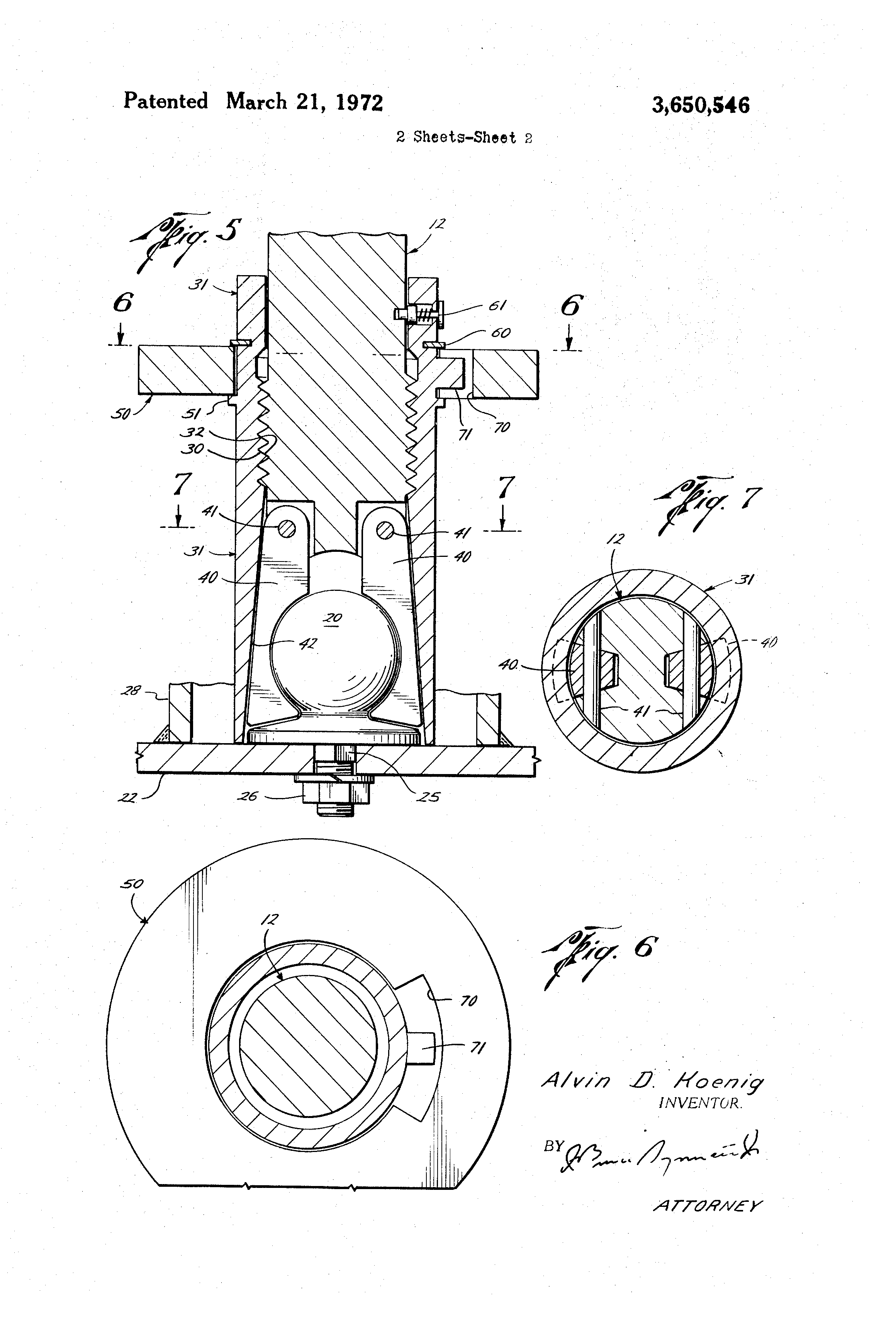Patent Us3650546 Trailer Hitch Google Patents Coupler Diagram Drawing