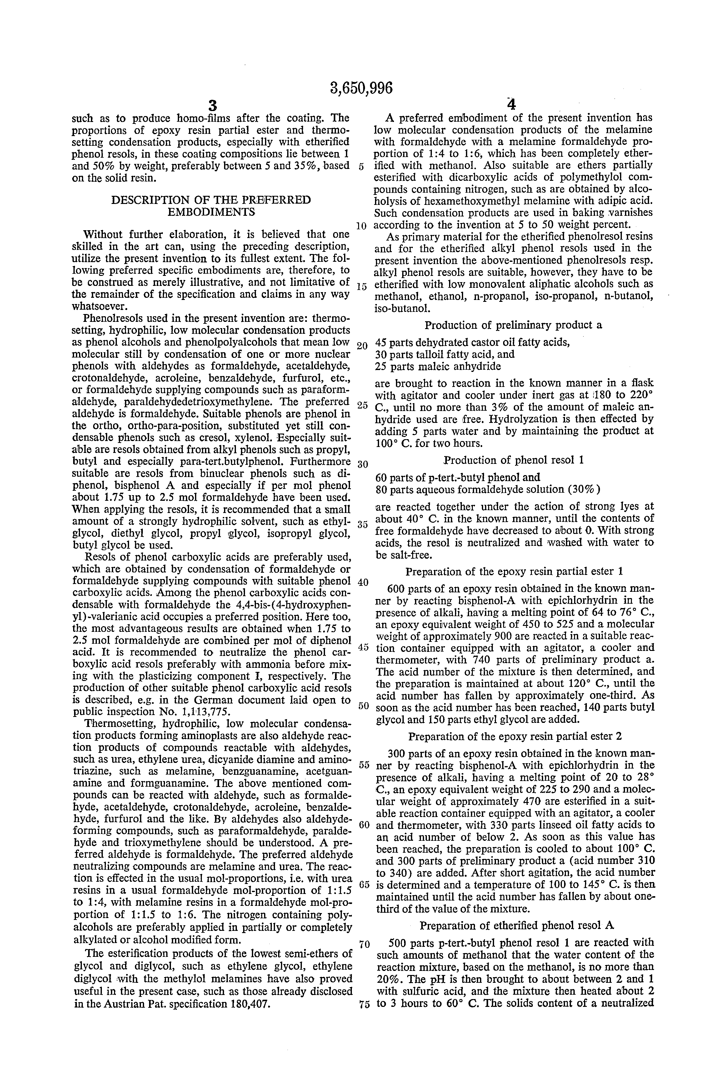 patent us water dilutable coating compositions containing  patent drawing