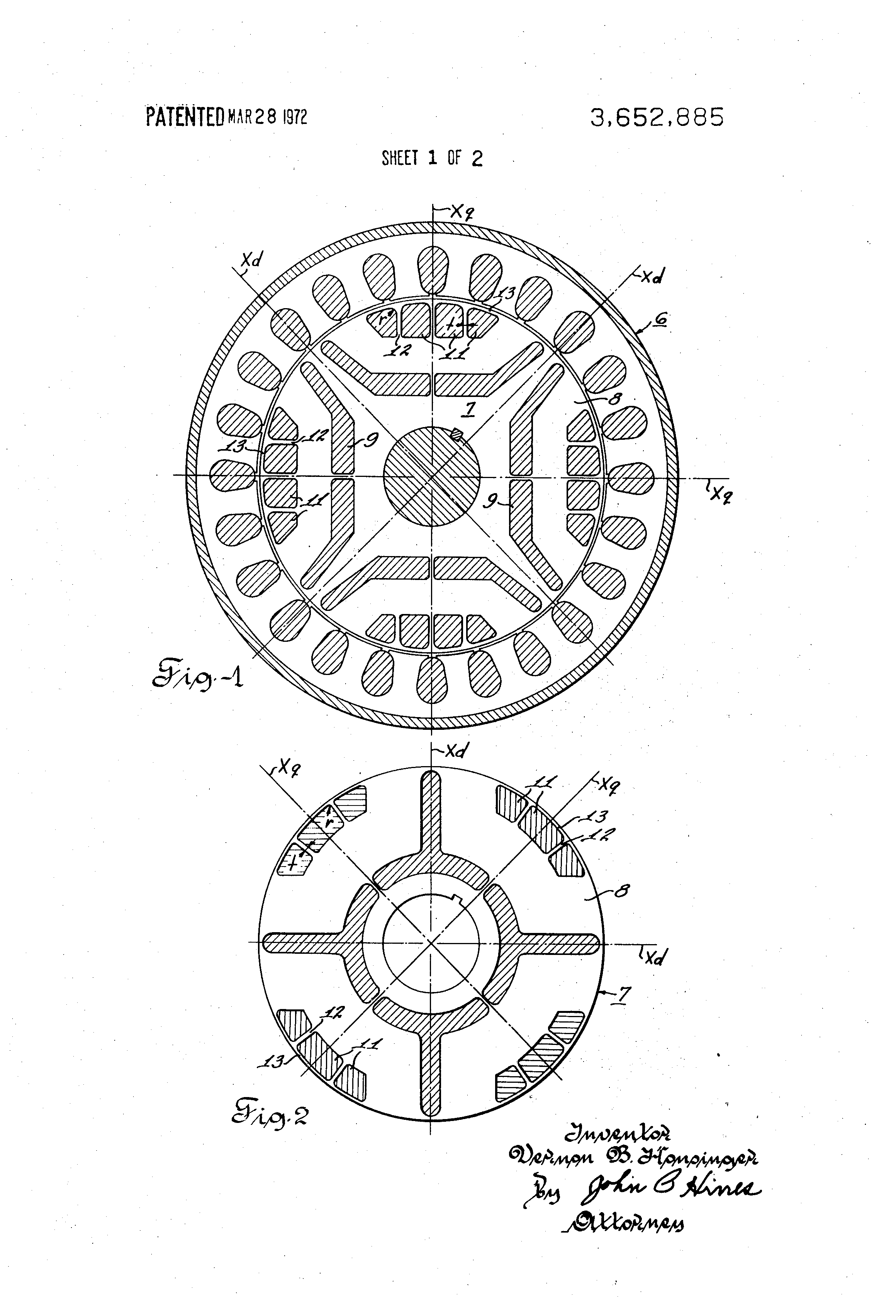 Patent Us3652885 Synchronous Reluctance Motor Google