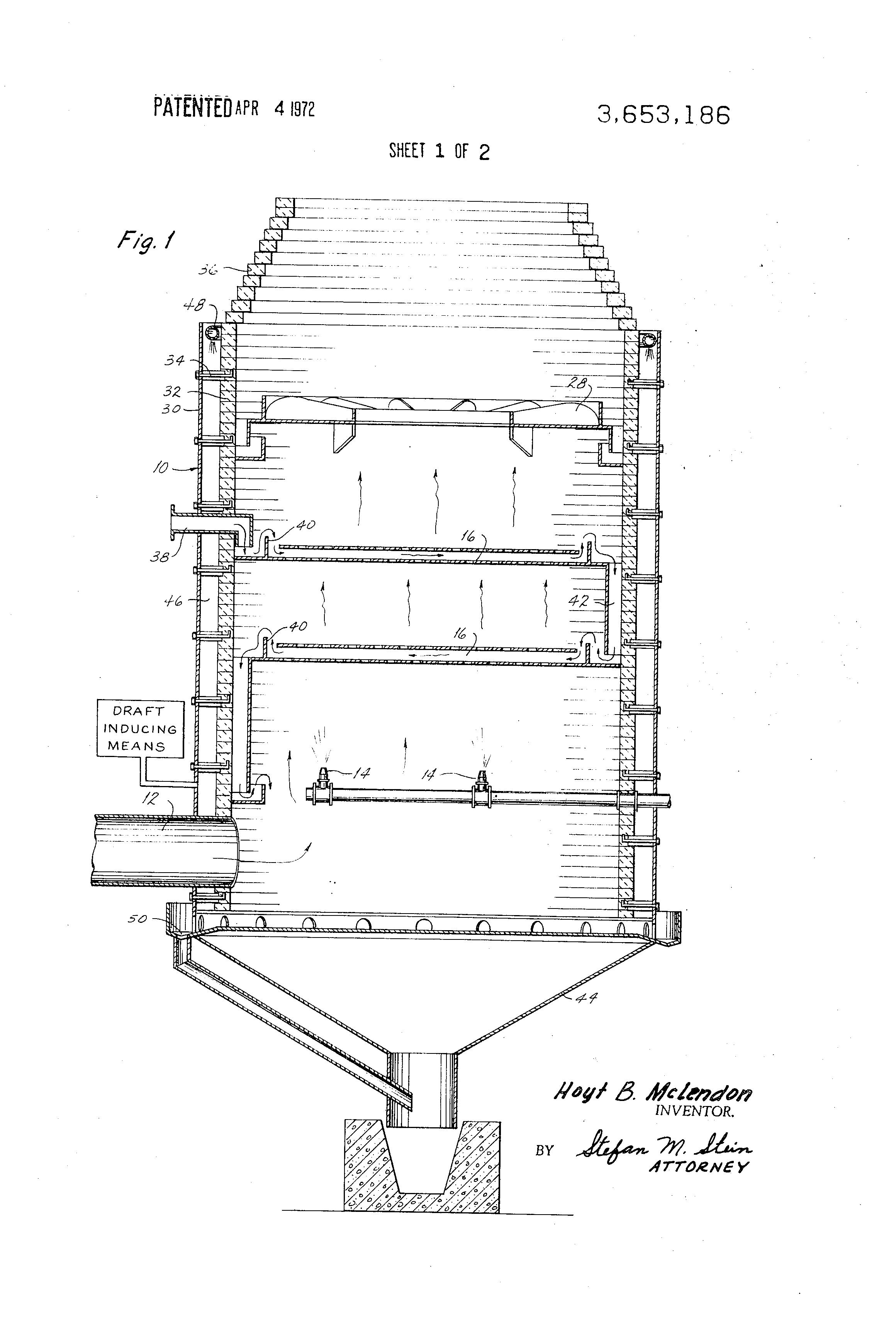 patent us3653186 - wet scrubber tank