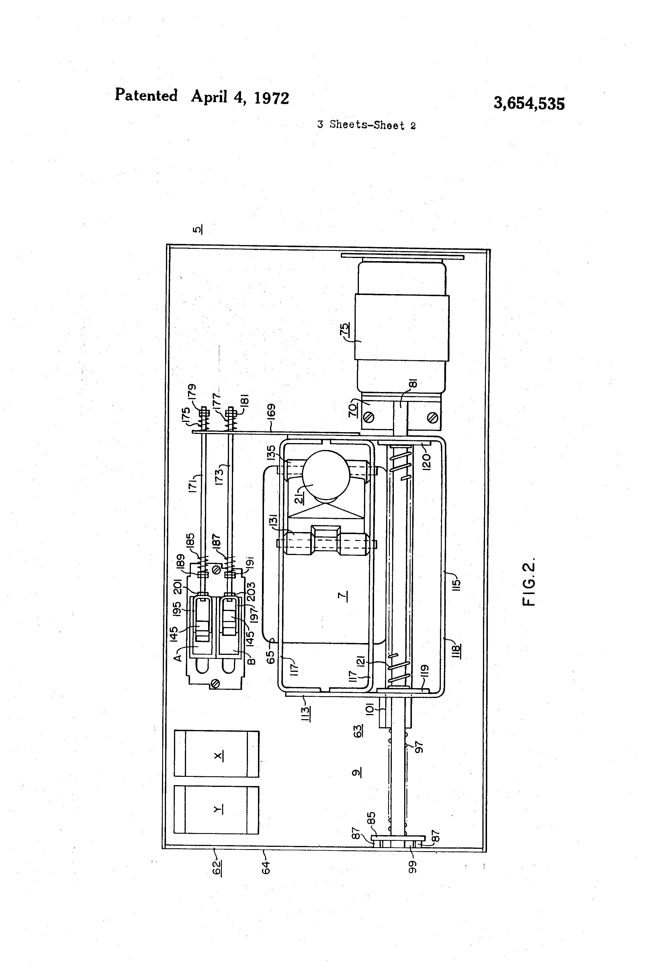 Patent us3654535 motor operated circuit breaker control for Motor operated circuit breaker