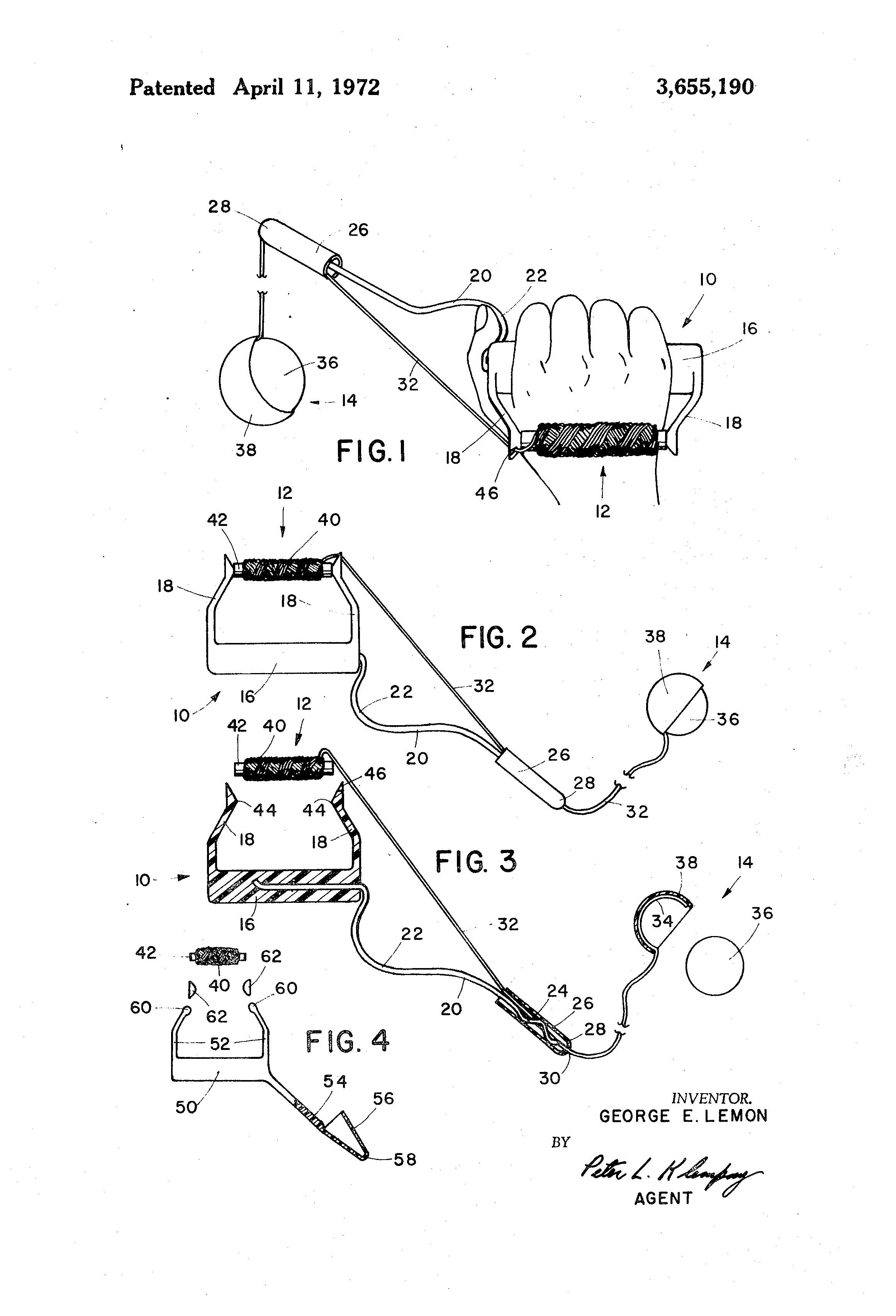 patent us3655190 tethered ball with cord lengthening means S&W Model 36 Grips patent drawing