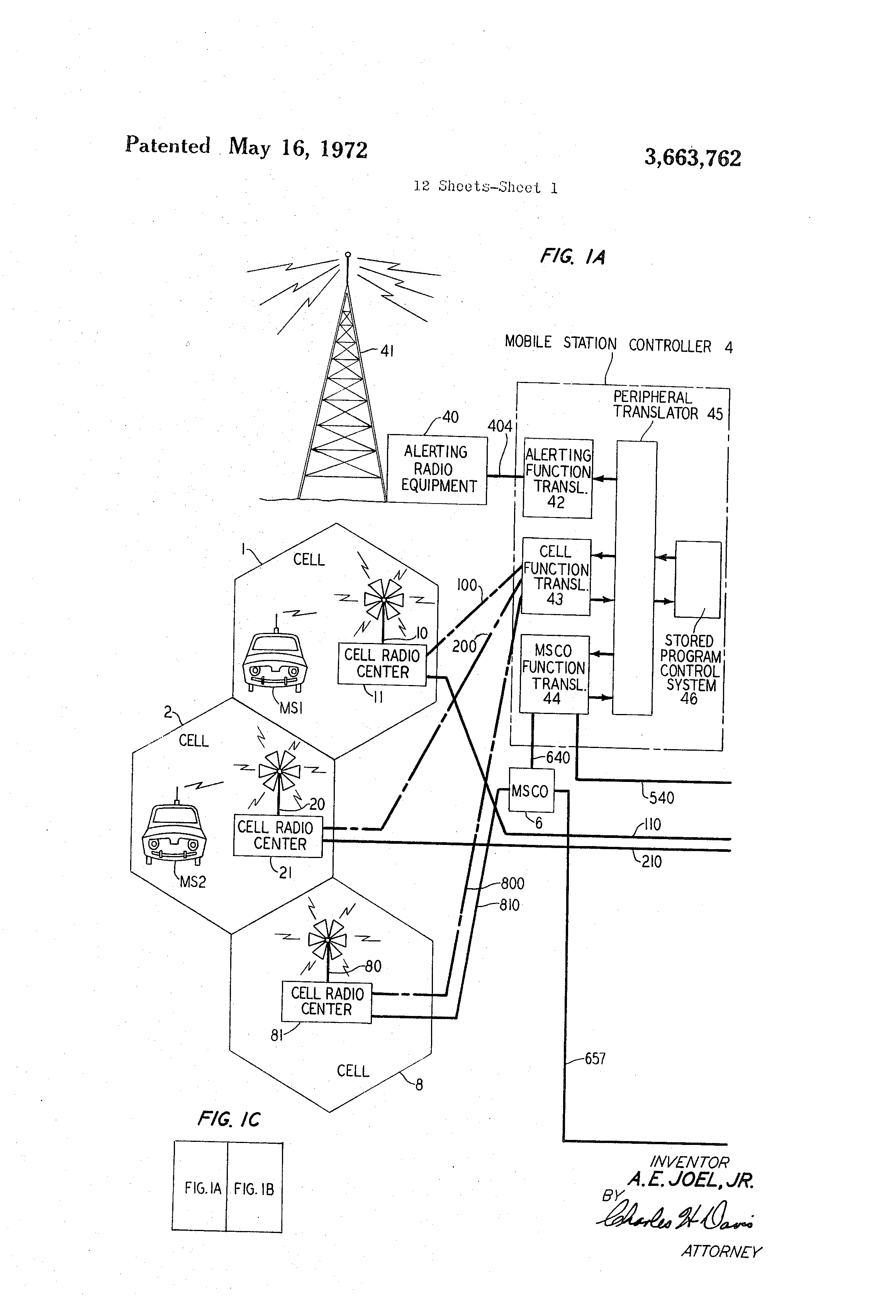 patent us3663762 - mobile communication system