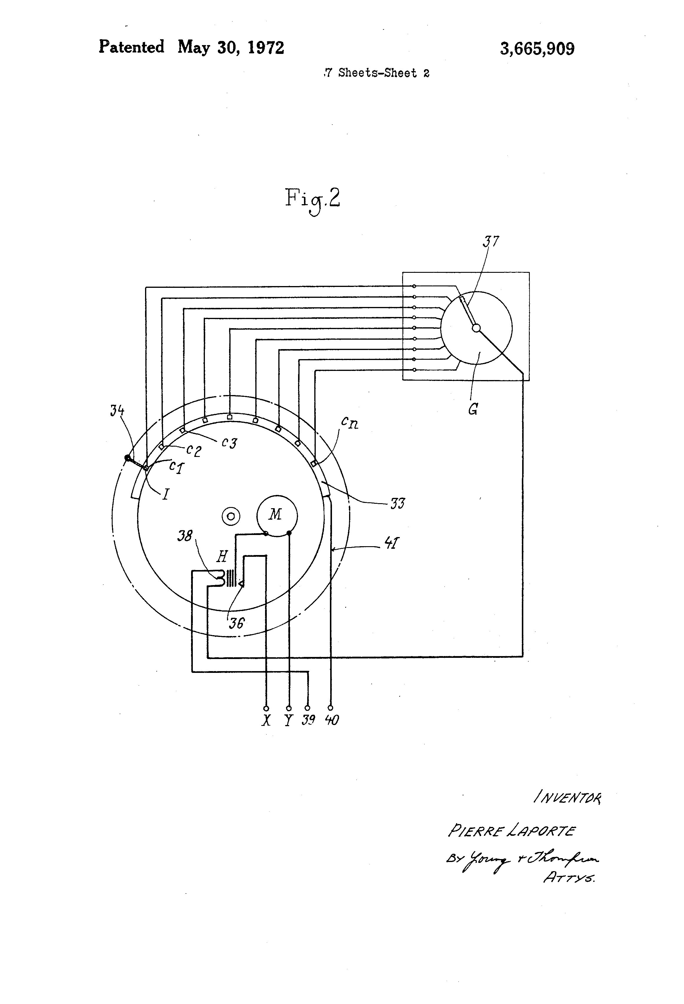 US3665909 2 patent us3665909 apparatus controlling the mechanism throwing laporte traps wiring diagram at bayanpartner.co