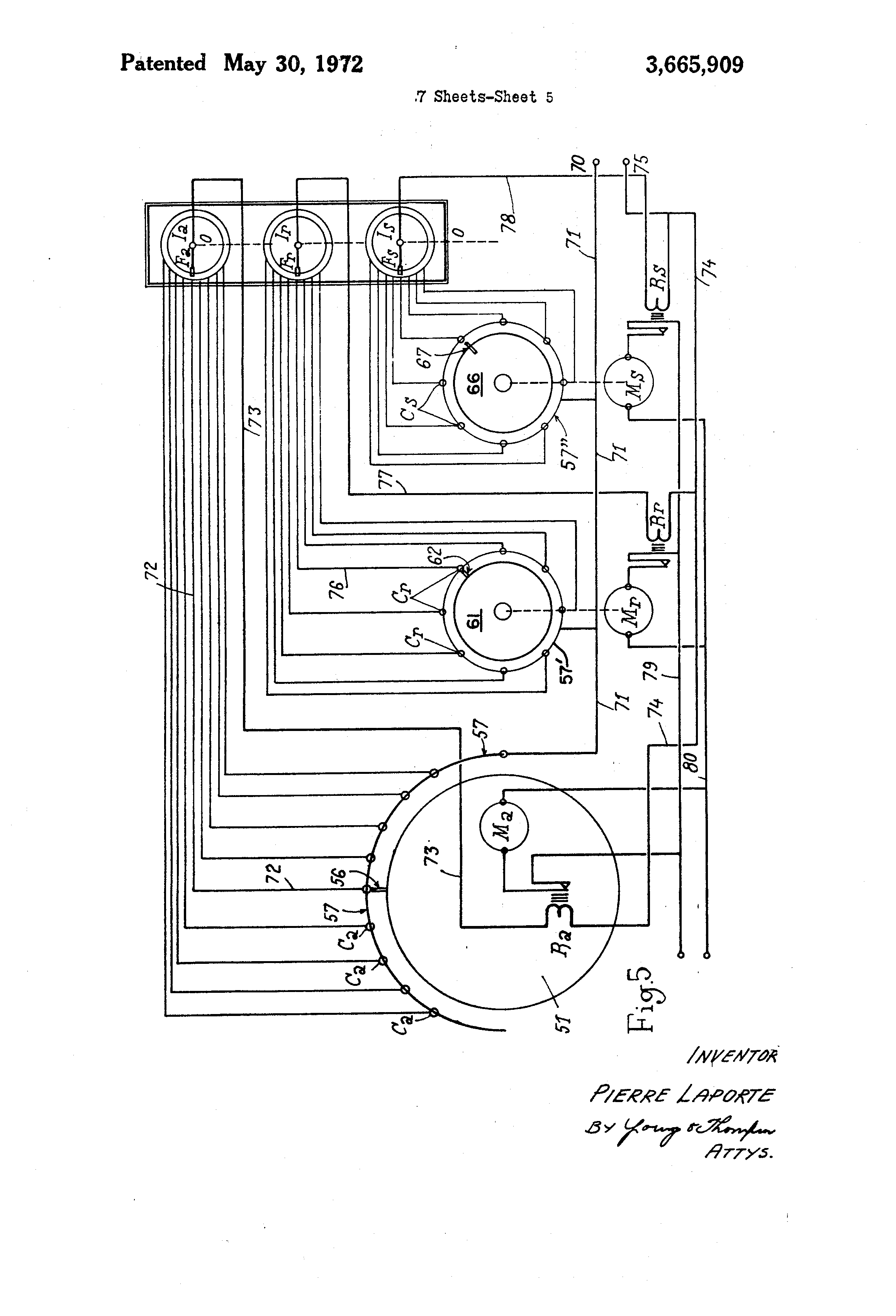 US3665909 5 patent us3665909 apparatus controlling the mechanism throwing laporte traps wiring diagram at bayanpartner.co