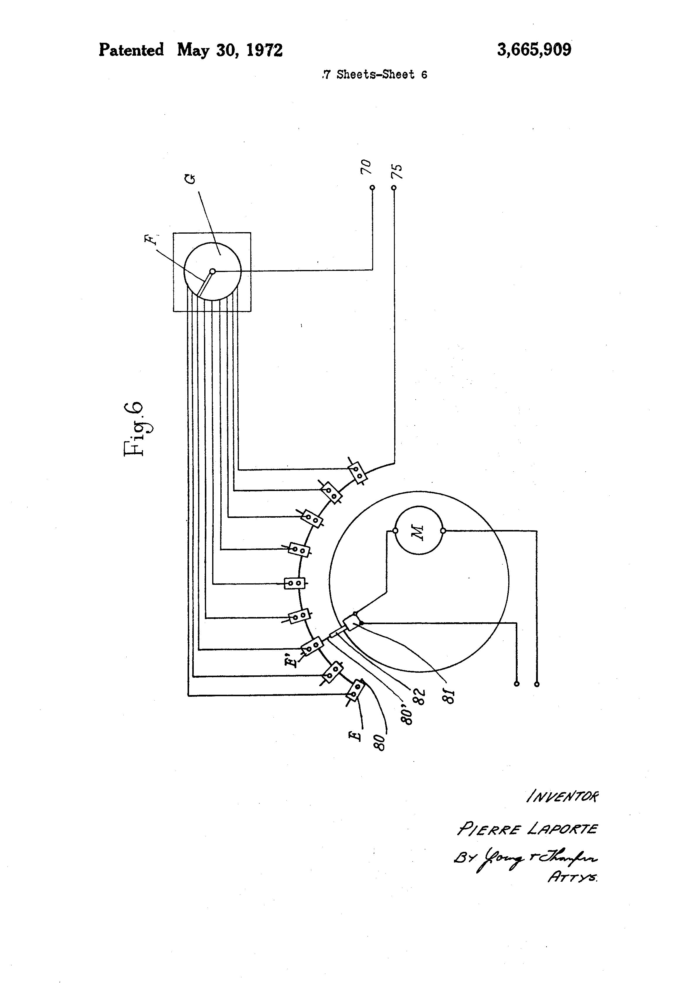 US3665909 6 patent us3665909 apparatus controlling the mechanism throwing laporte traps wiring diagram at bayanpartner.co