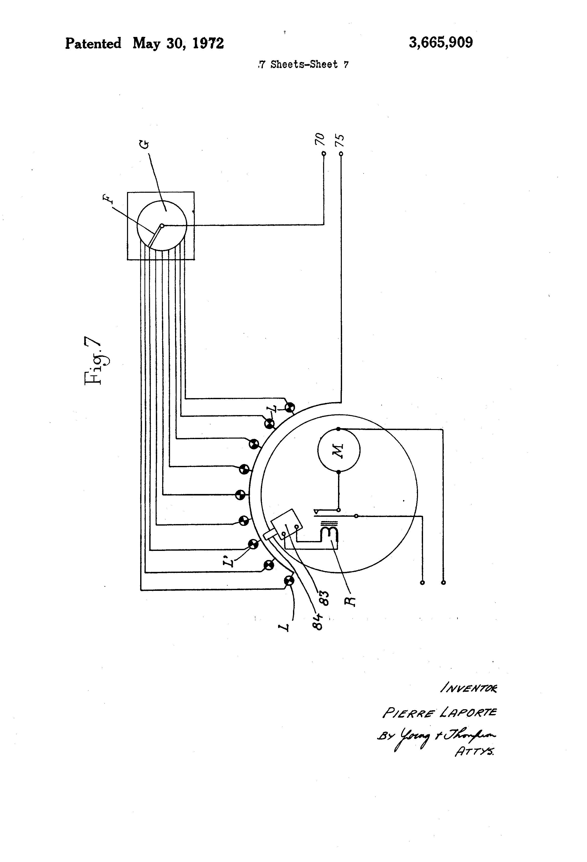 US3665909 7 patent us3665909 apparatus controlling the mechanism throwing laporte traps wiring diagram at bayanpartner.co