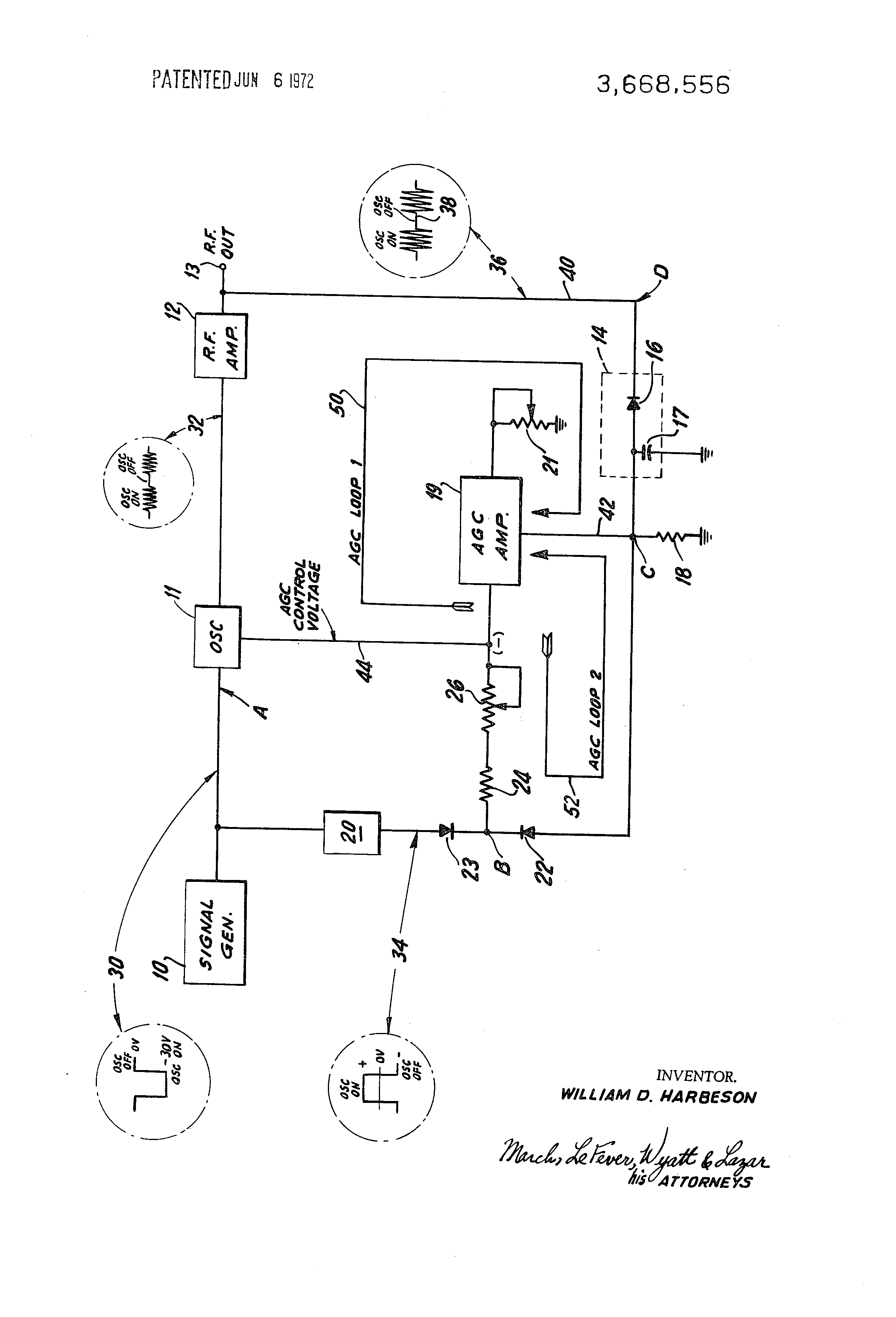 Patent US3668556 - Automatic gain control circuit - Google