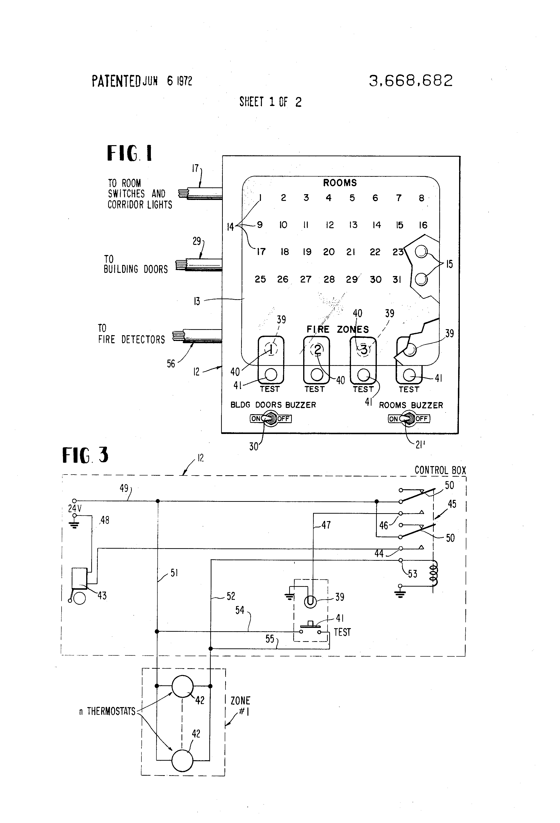 patent us nurse call and alarm system for nursing homes patent drawing