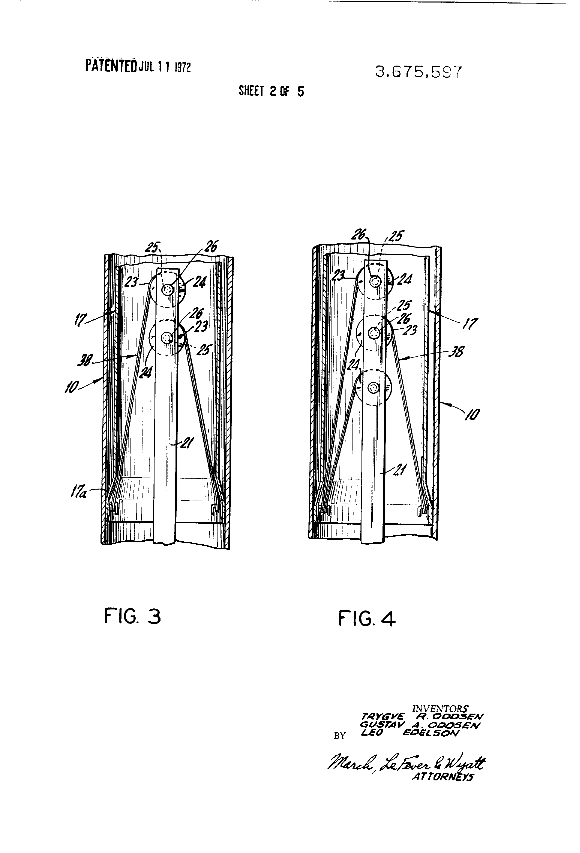 patent us3675597 - table top support