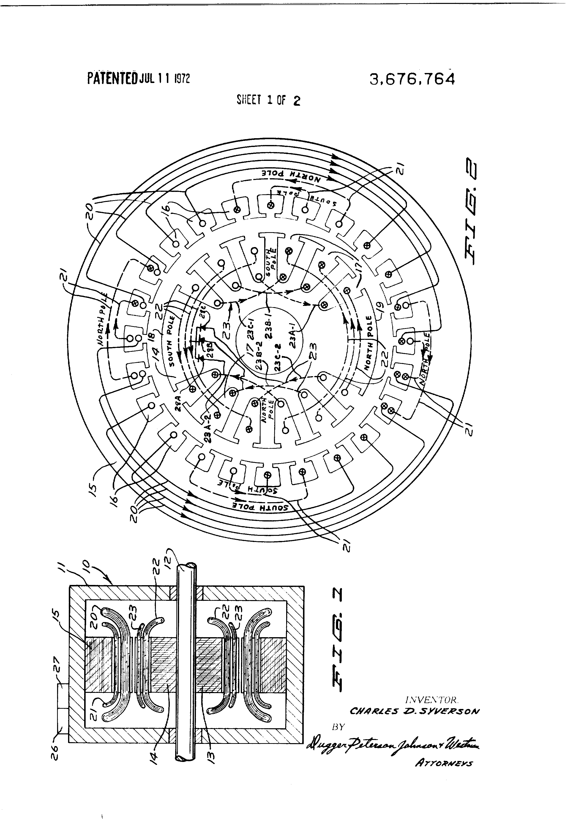 US3676764 1 patent us3676764 brushless alternating current generator stamford alternator wiring diagrams pdf at crackthecode.co