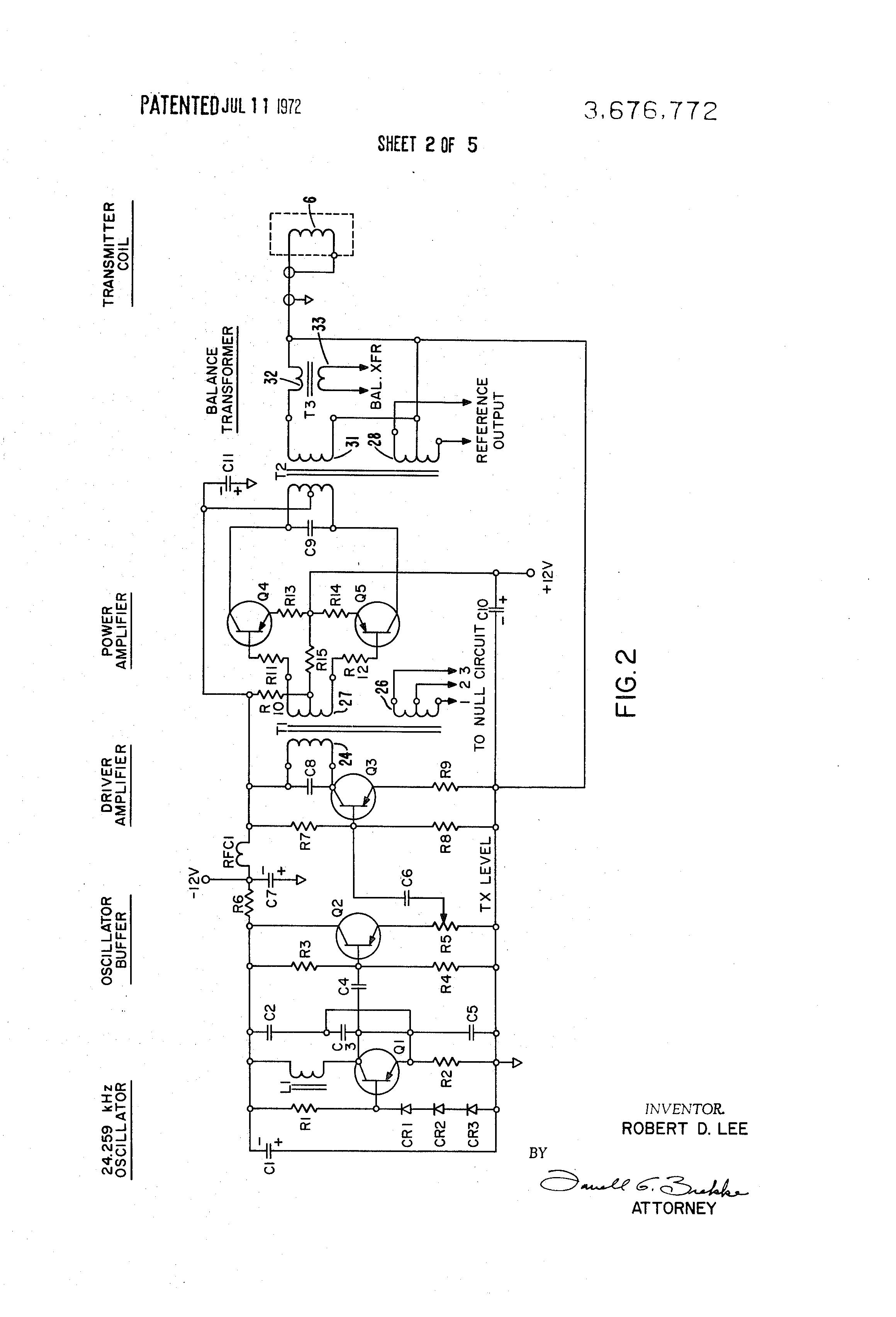 US3676772 2 patent us3676772 metallic intrusion detector system google patents safeline metal detector wiring diagram at mifinder.co
