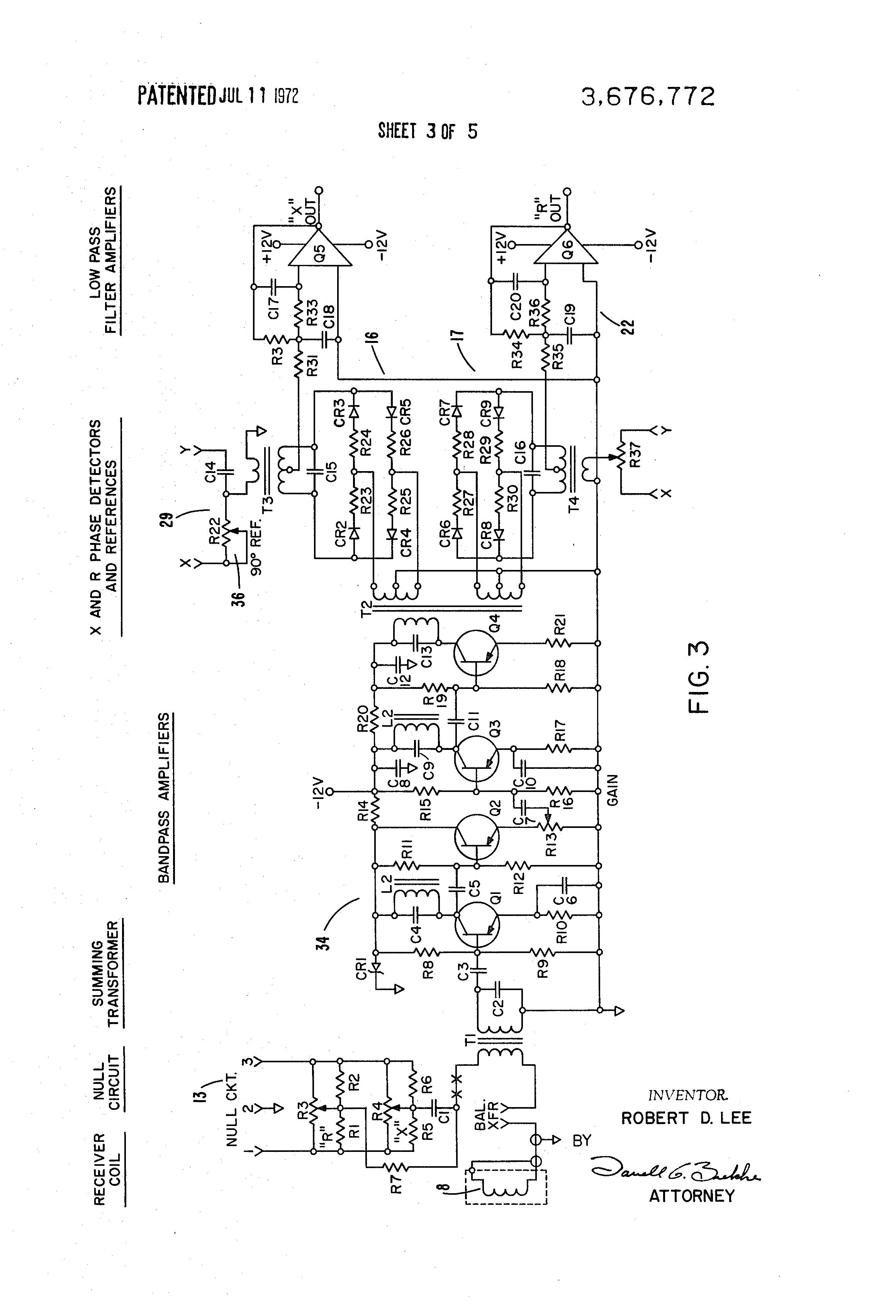Patent Us3676772 - Metallic Intrusion Detector System