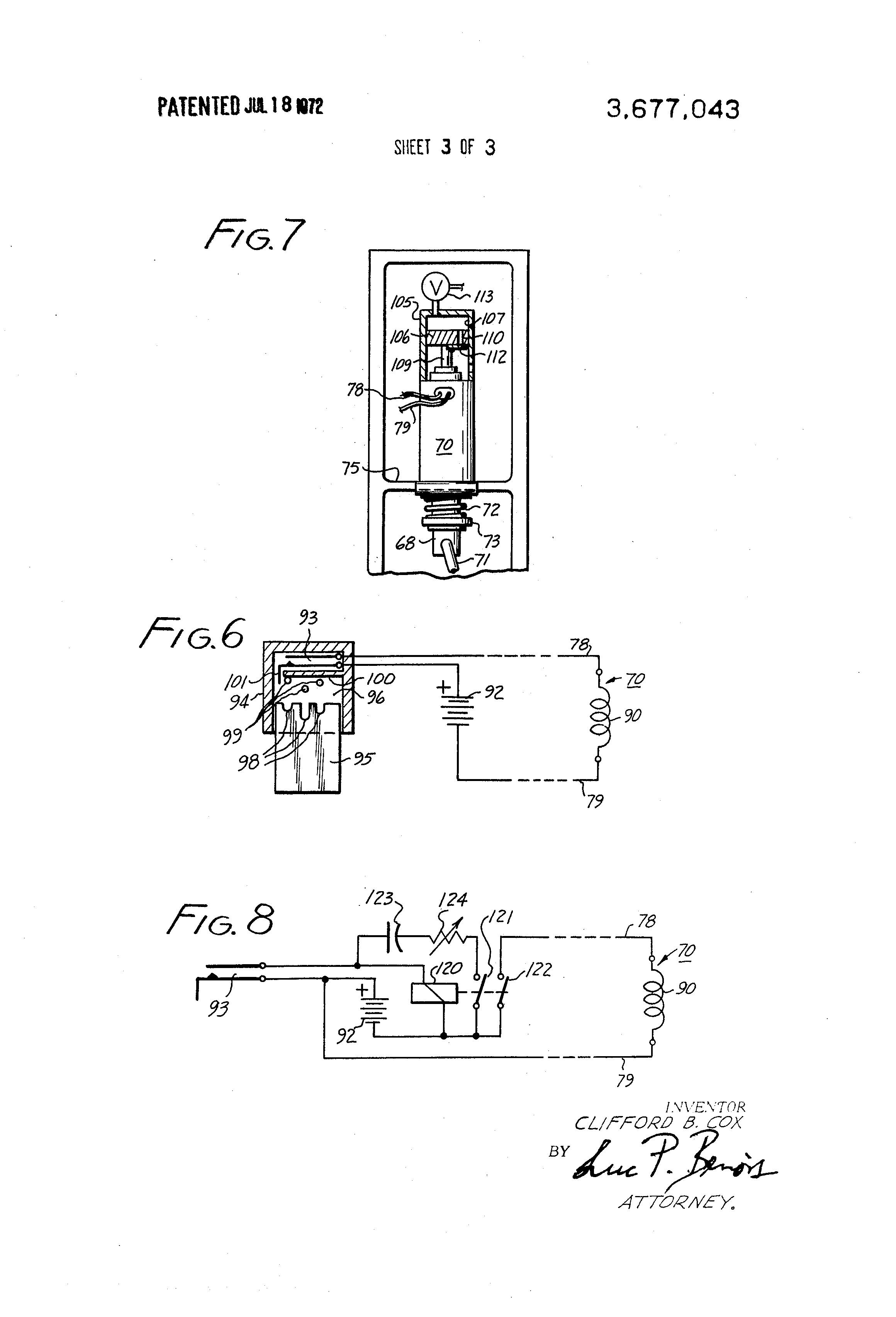 US3677043 3 patent us3677043 remote control door lock google patents  at edmiracle.co