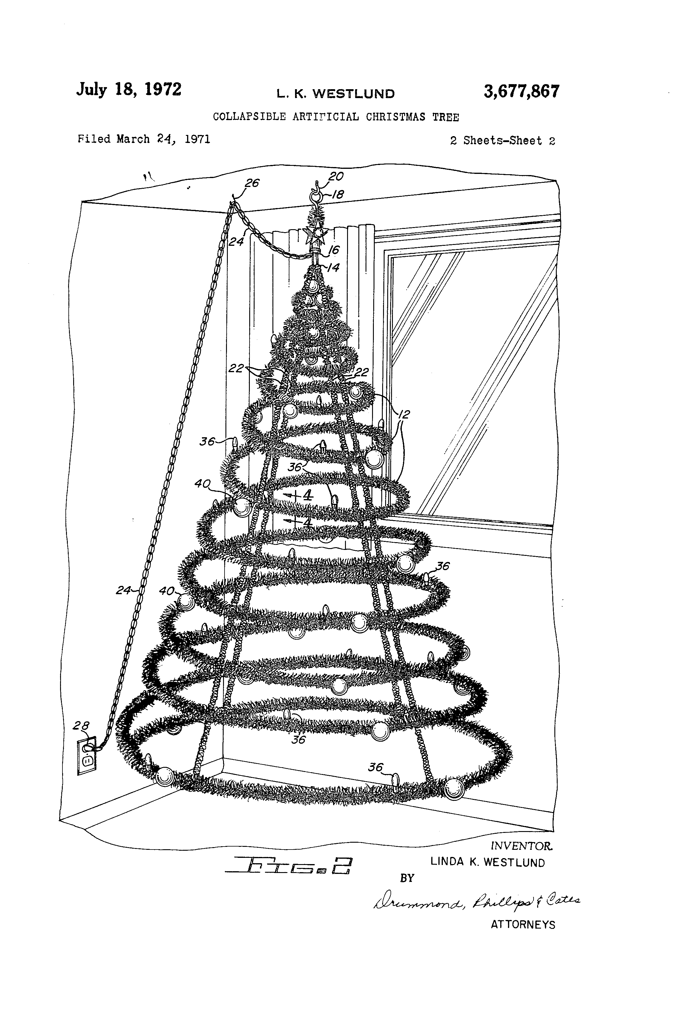 patent us3677867 collapsible artificial christmas tree google
