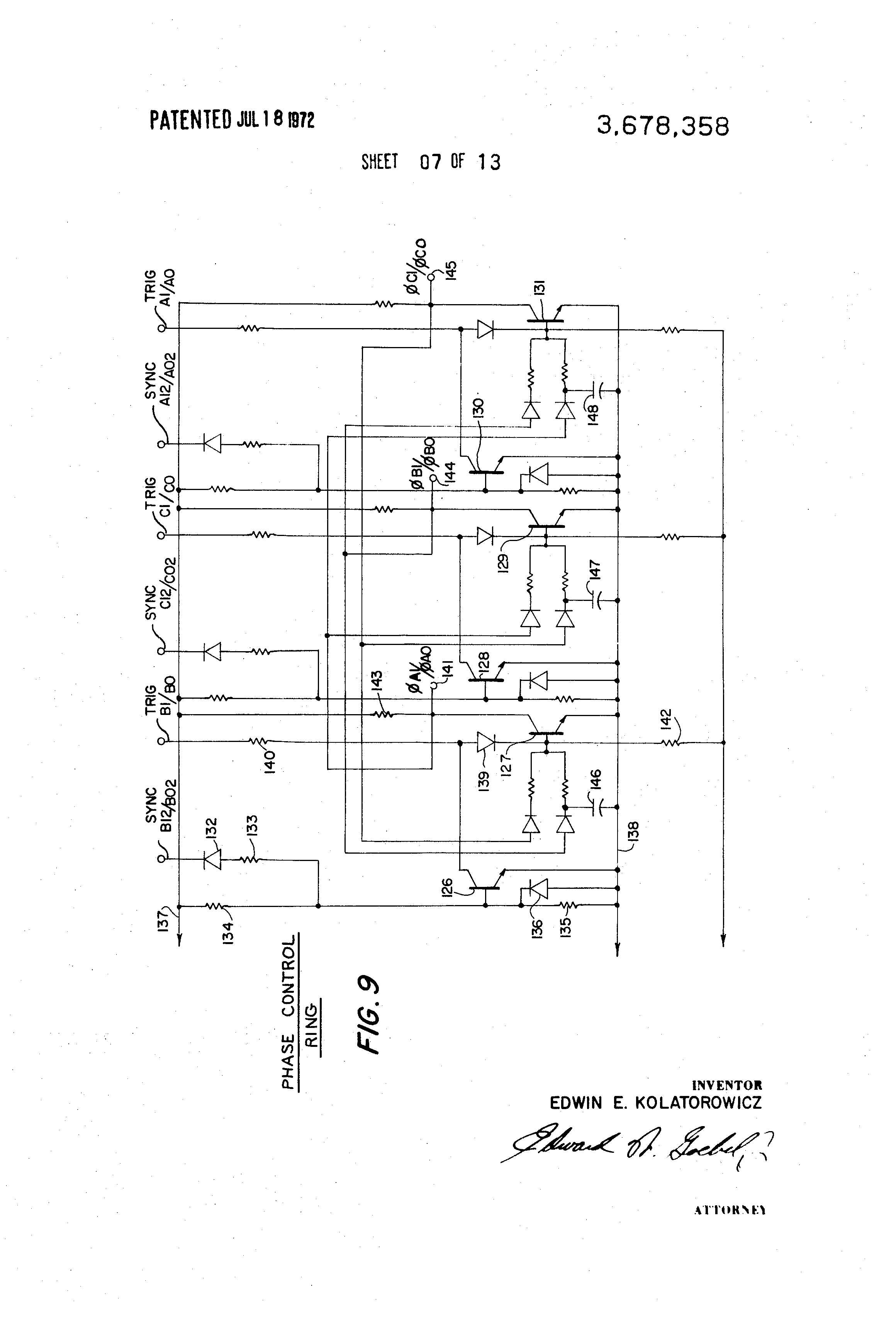 Patent us3678358 brushless dc adjustable speed drive for Regenerative dc motor control