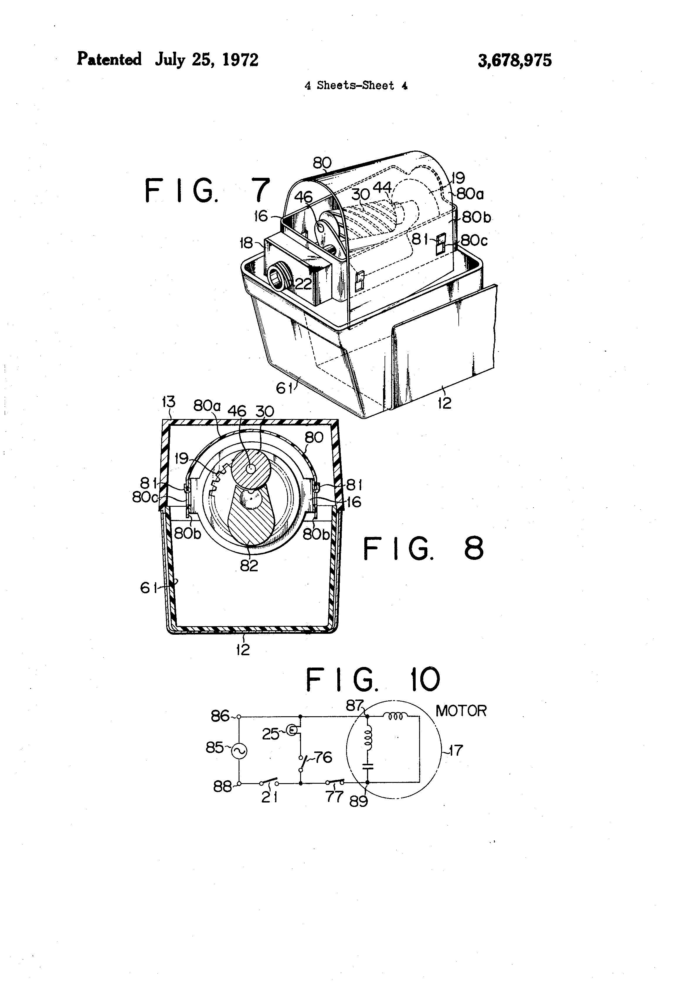 patent us3678975 - electric pencil sharpener