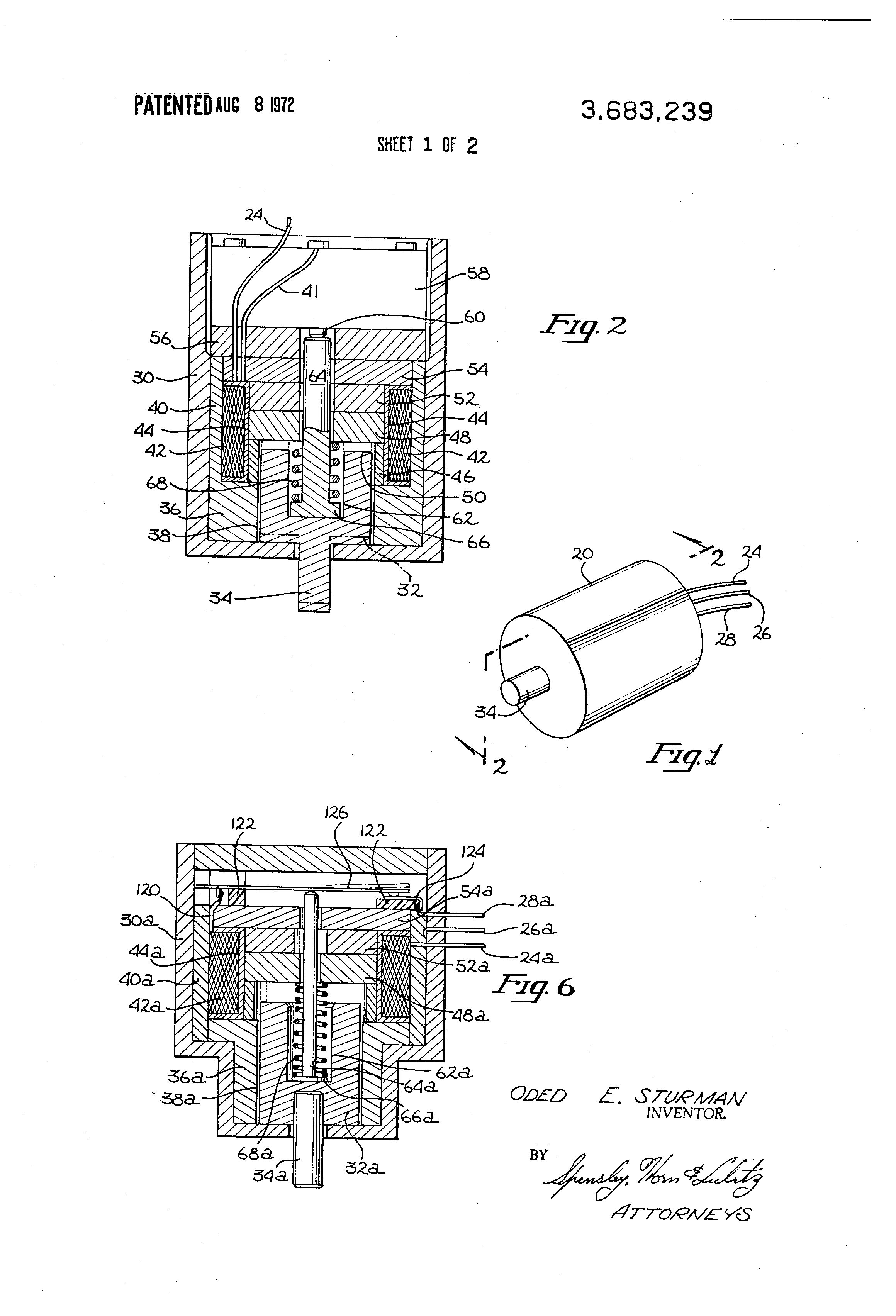 Patent US Selflatching Solenoid Actuator Google Patents - Two coil latching relay