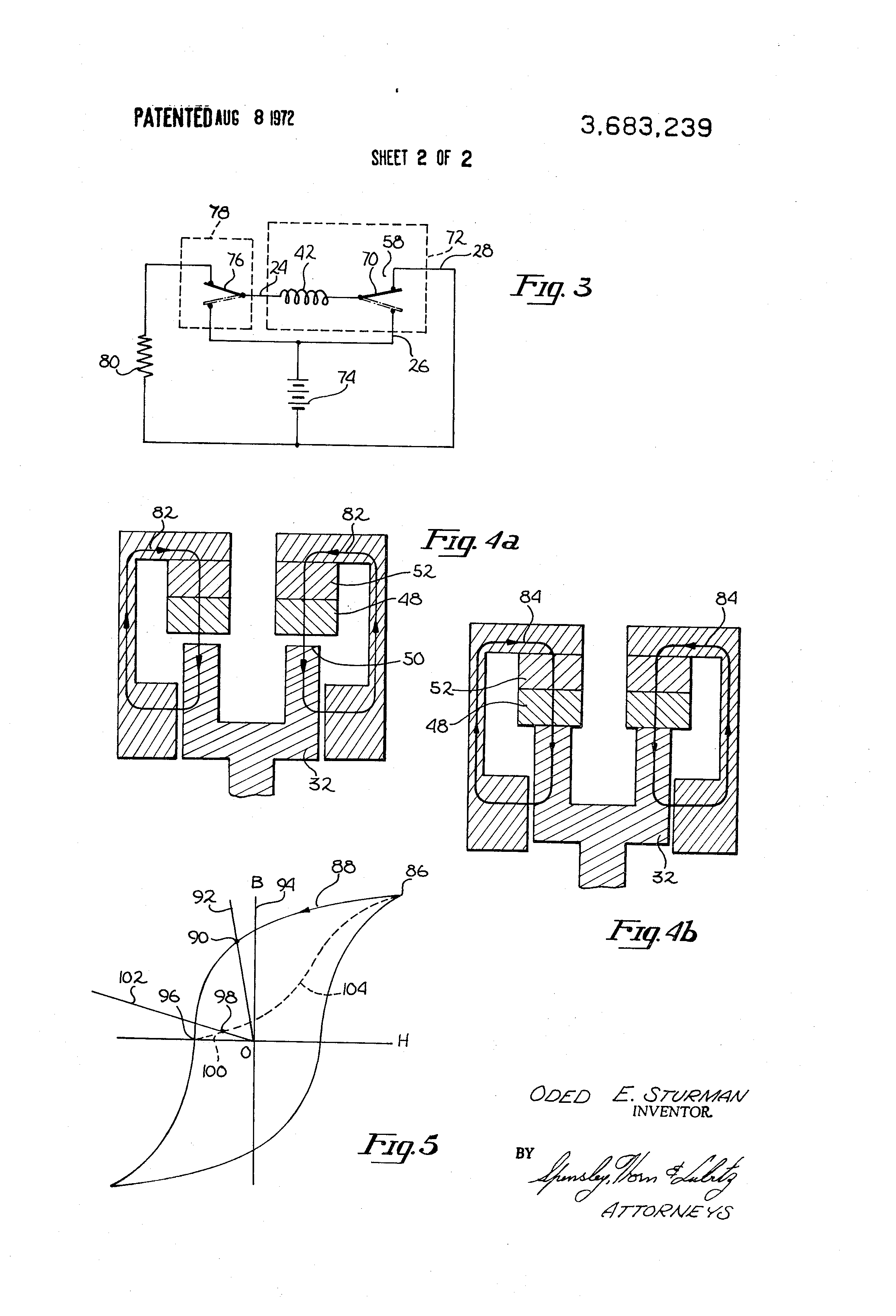 patent us3683239 self latching solenoid actuator google patents patent drawing