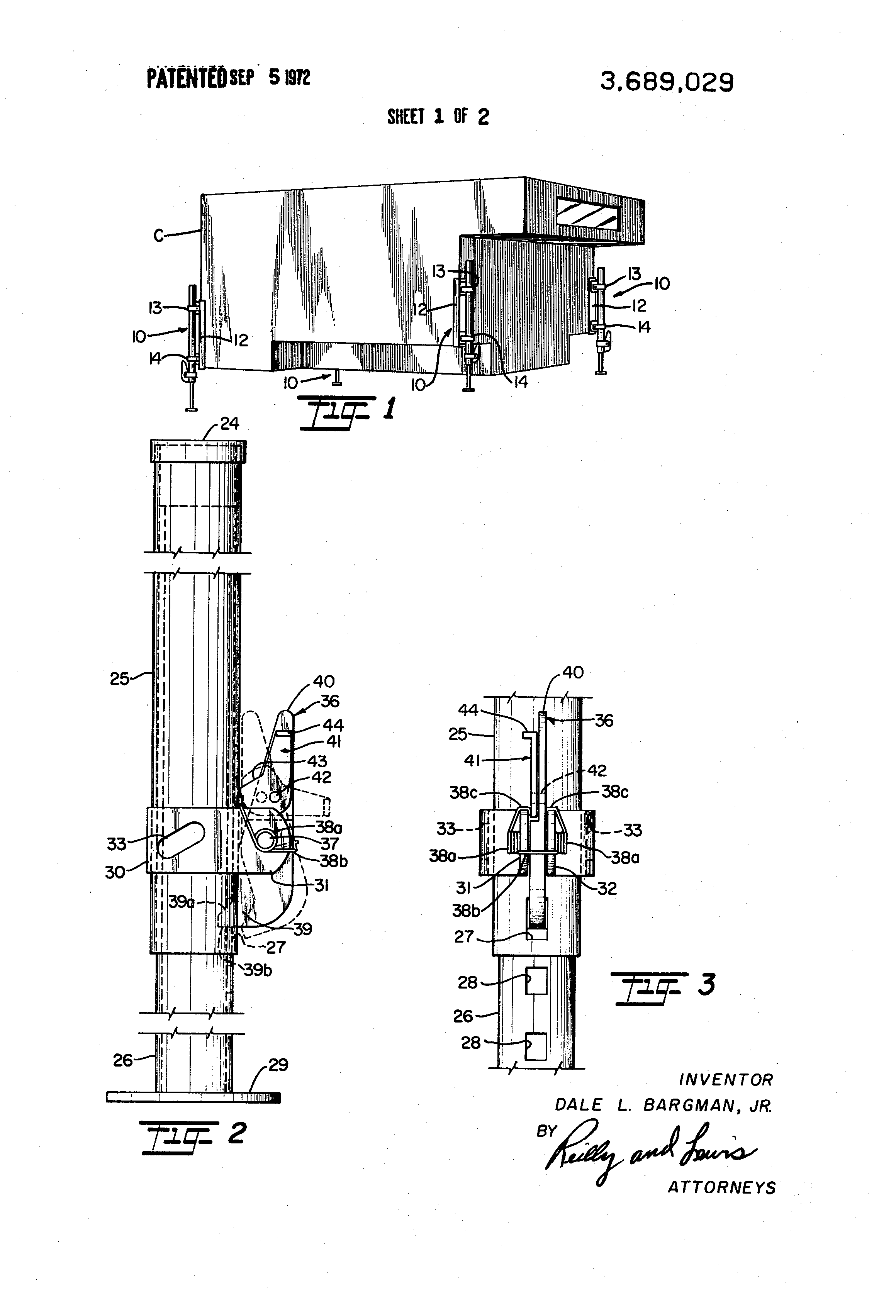 Patent US3689029 - Ratchet-type lift jack unit and lift