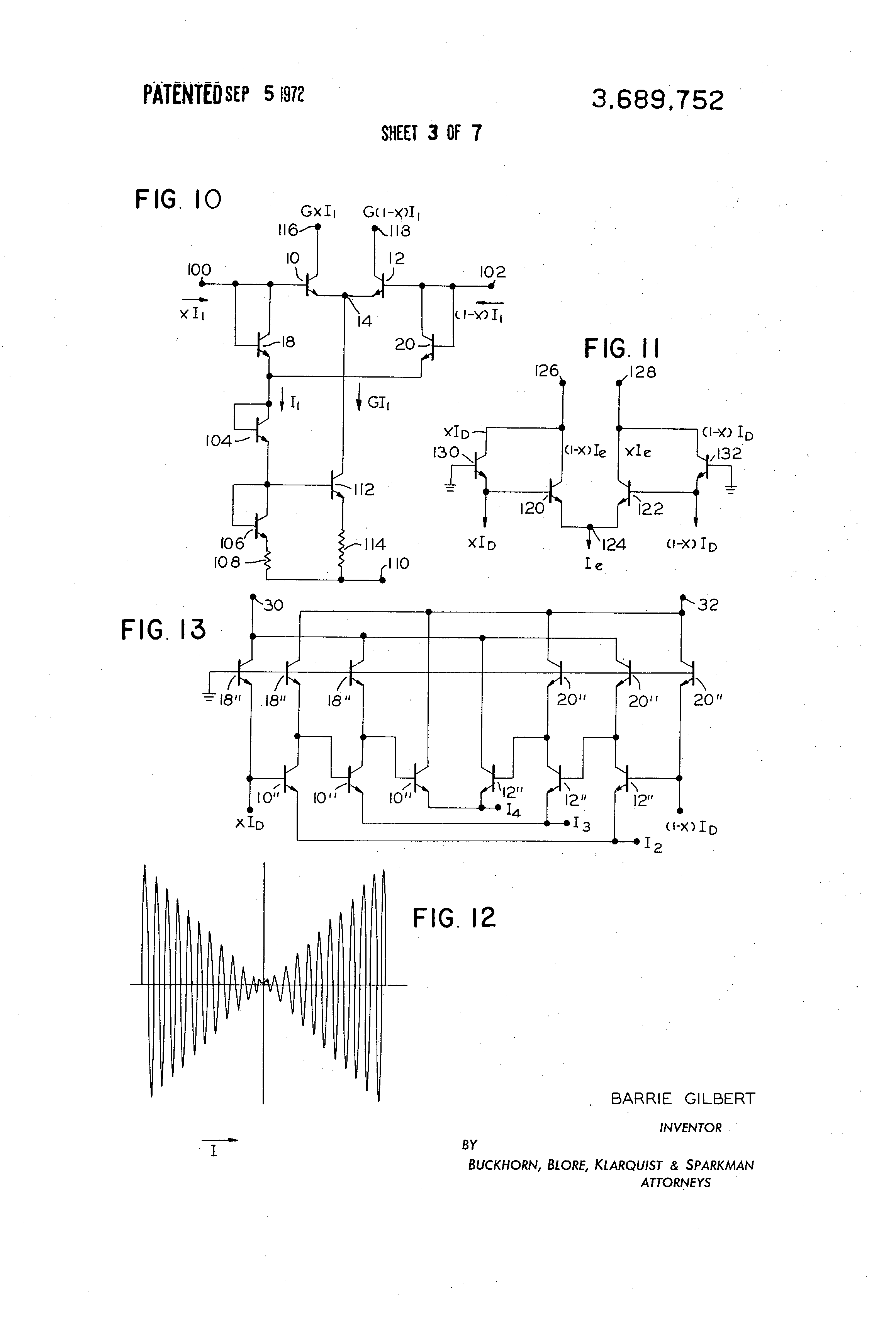 Patente Us3689752 Four Quadrant Multiplier Circuit Google Patentes Fourquadrantanalogmultiplier Amplifiercircuit Diagram Patent Drawing