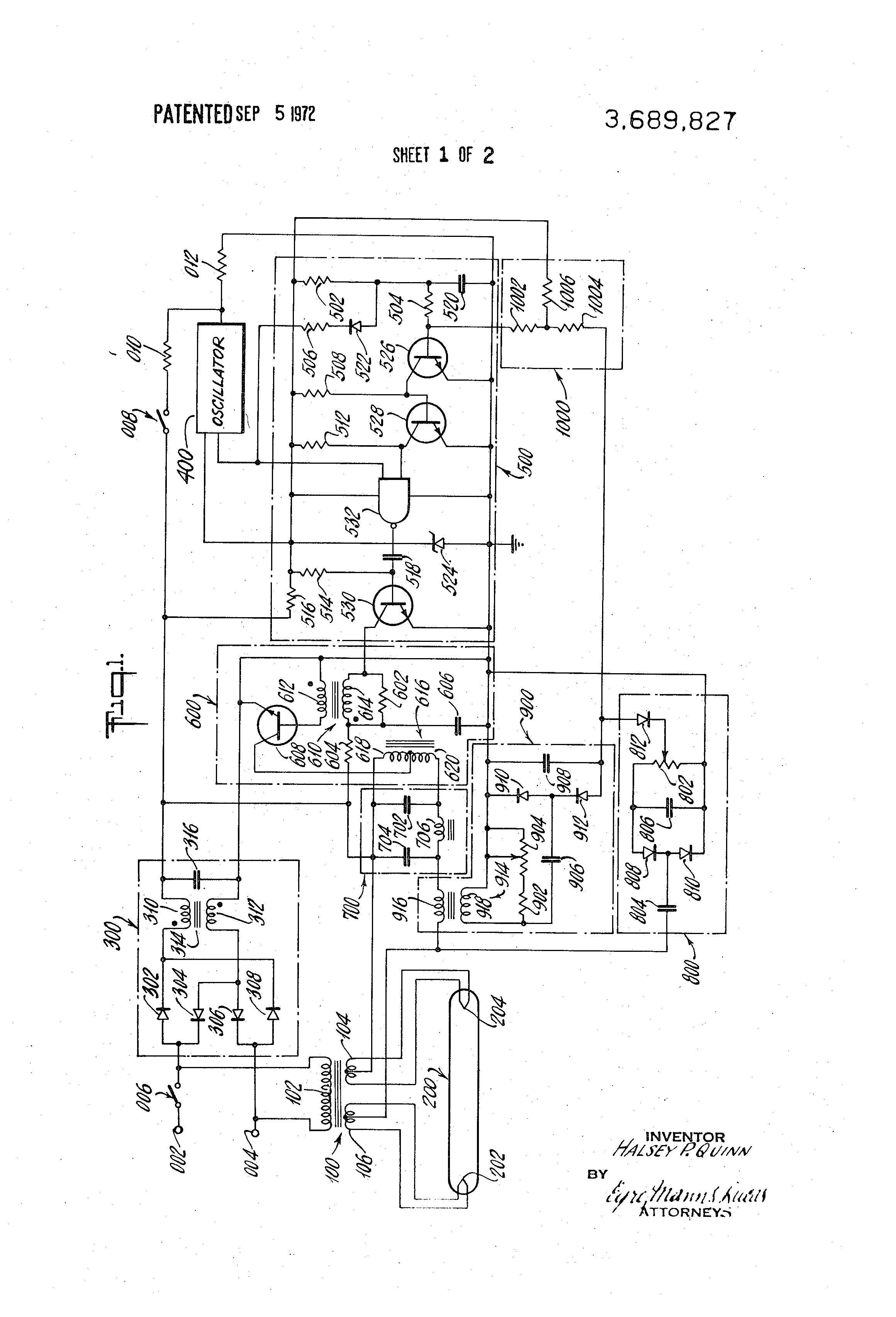 Patent Us3689827 Voltage And Current Regulated Power Supply Pulse Battery Charger Circuit Powersupplycircuit Diagram Drawing