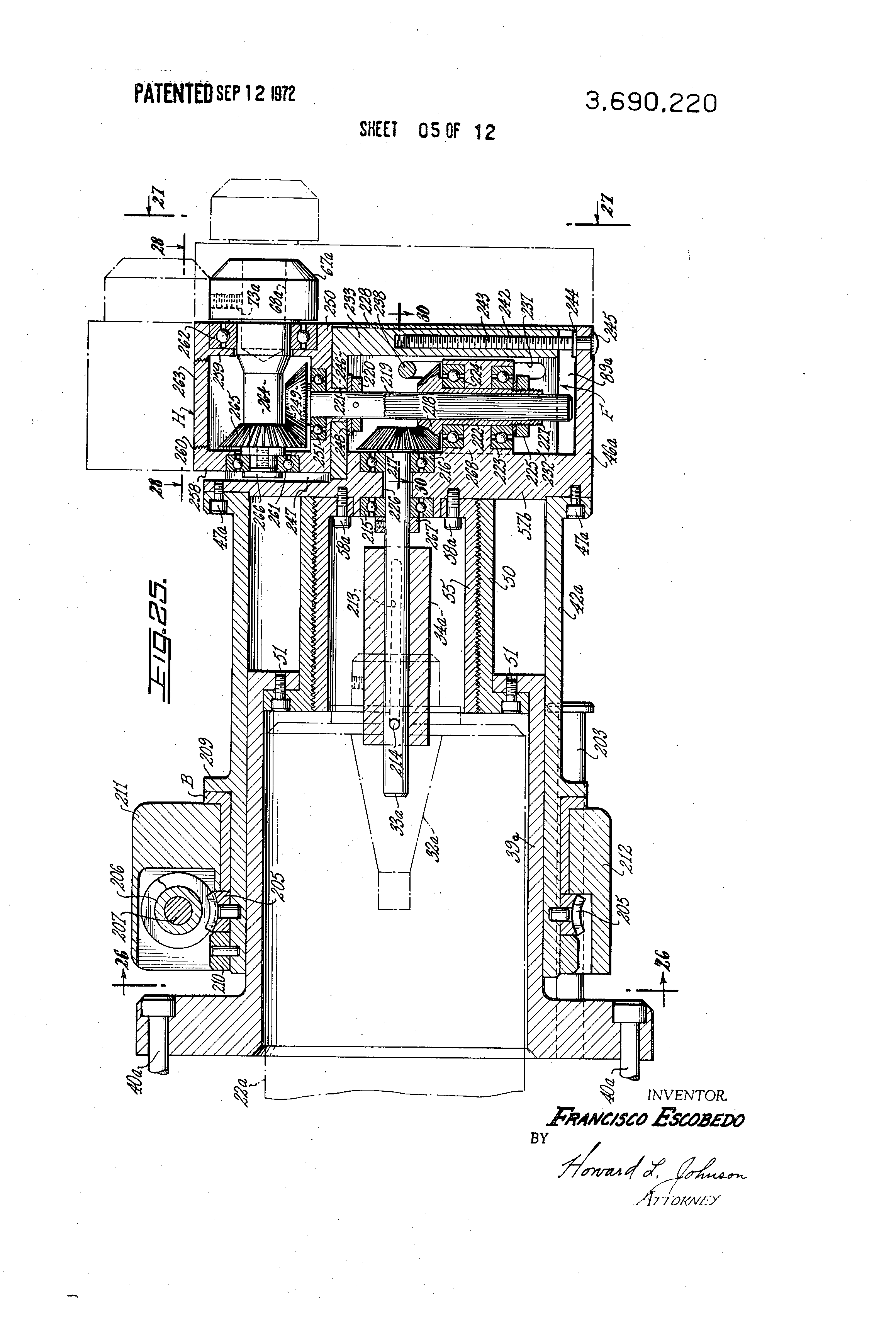 Patent Us3690220 Helically Tracking Milling Assembly