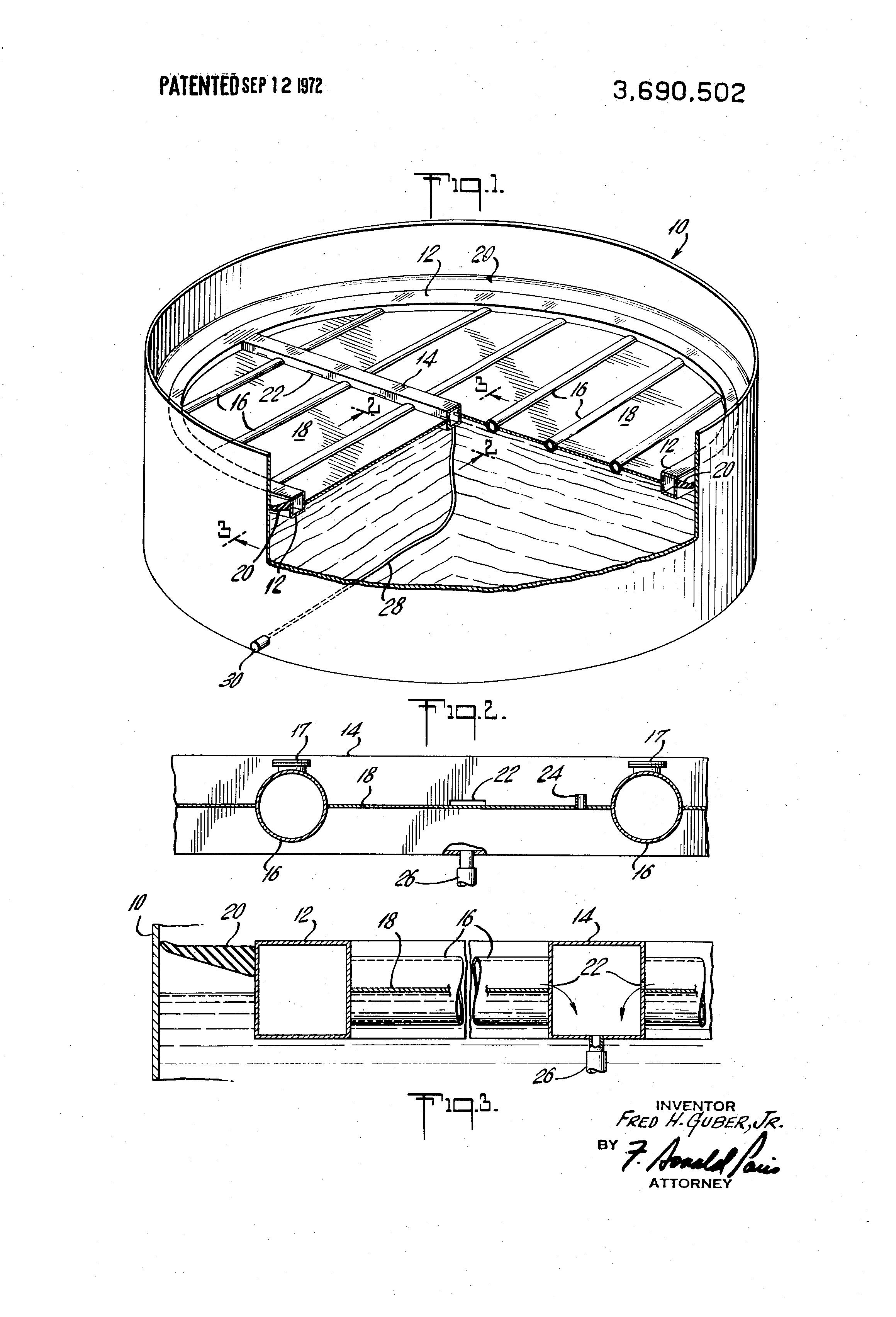 Patente Us3690502 Pipe Pontoon Floating Roof Google