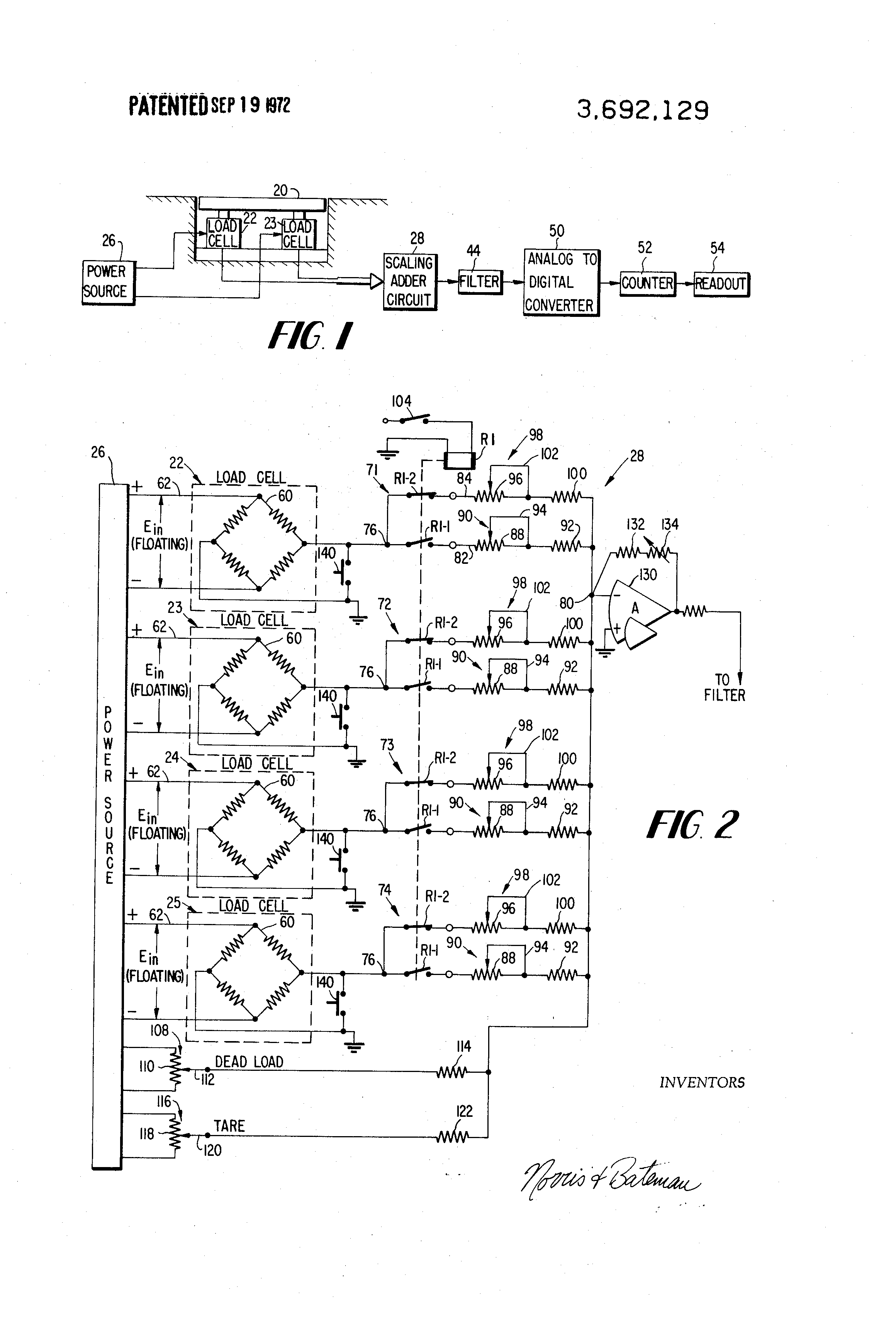 US3692129 1 patent us3692129 load cell weighing systems google patents niftylift 120 wiring diagram at suagrazia.org