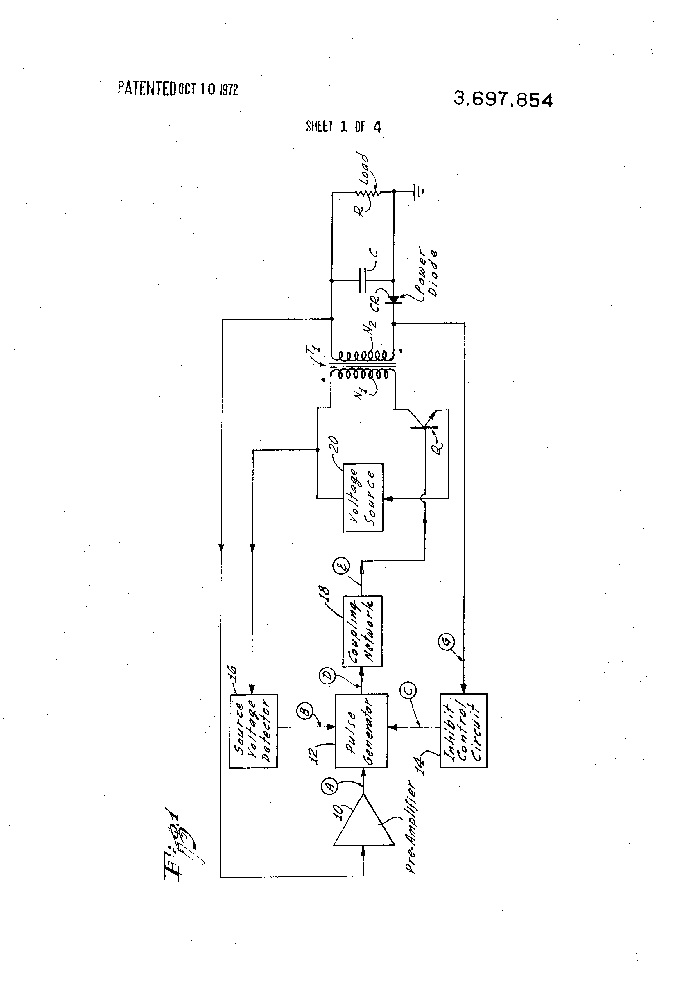 Transistor Current Control Circuit Diagram Controlcircuit 4 Seekiccom Patent Us3697854 Regulated Dc Power Supply Google Patents