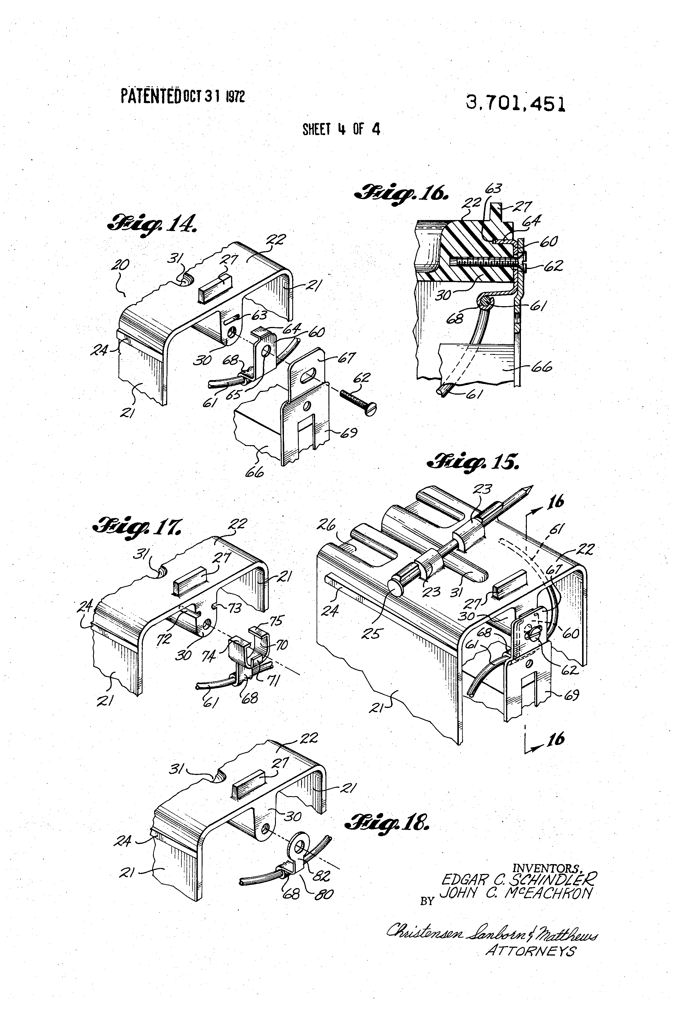patent us3701451 - molded electrical junction box