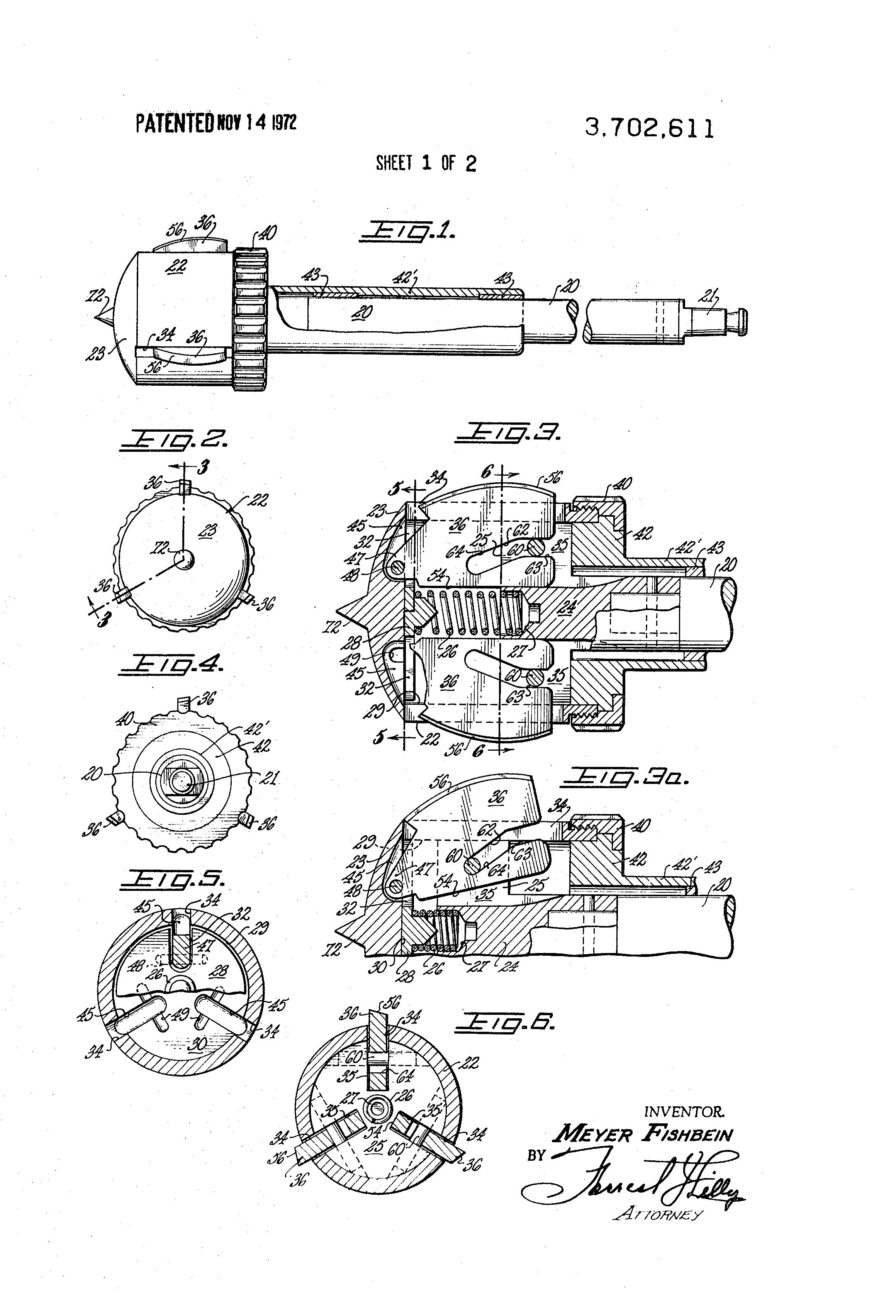 patent us3702611 surgical expansive reamer for hip socket google