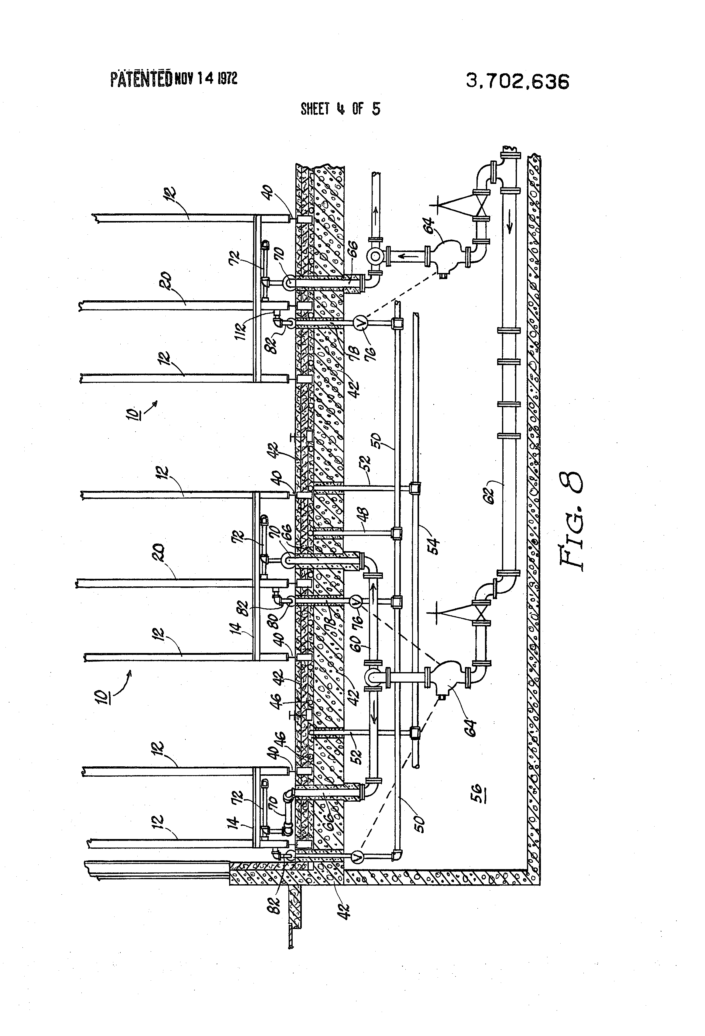 patent us3702636 - antifreeze system for rack sprinkler building