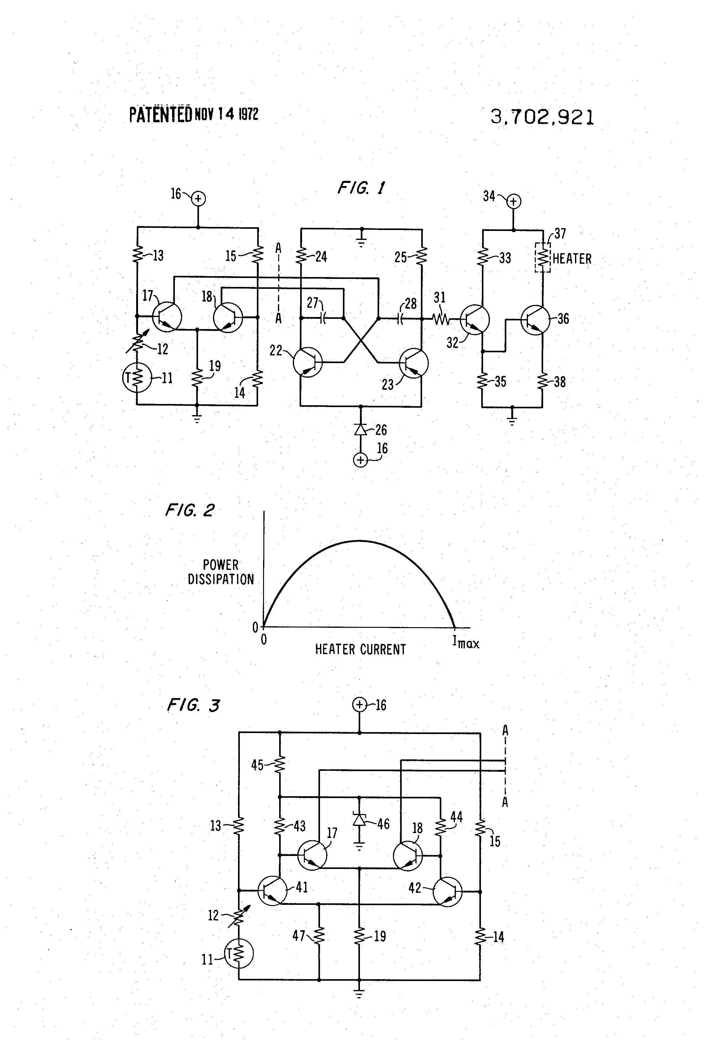 Servo Control Circuit Of Dc Motor Controlcircuit Diagram Transistor Current Patent Us3702921 Precision Temperature With