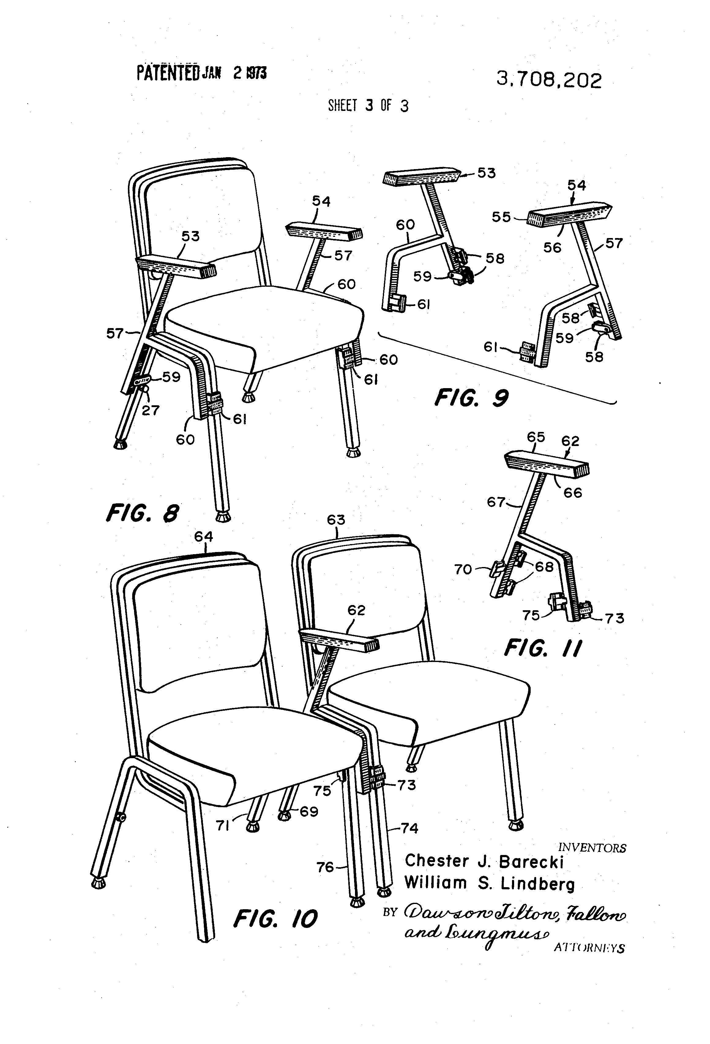 patent drawing bela stackable office chair
