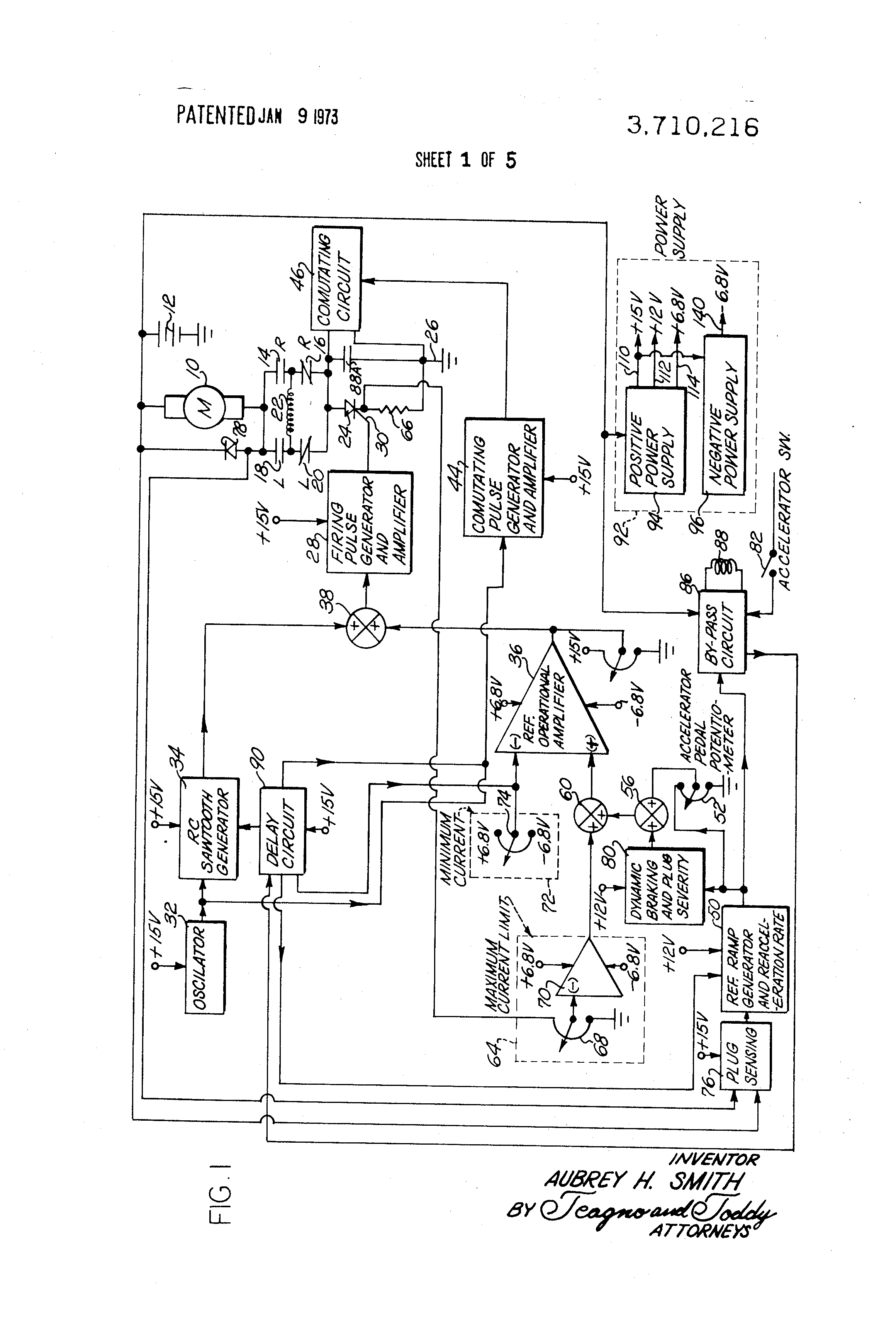 Scr Motor Diagram Best Wiring Library Scrcontrolheater Controlcircuit Circuit Seekiccom Us3710216 Speed Control With Plug Sensing Patent Drawing Dc Servo