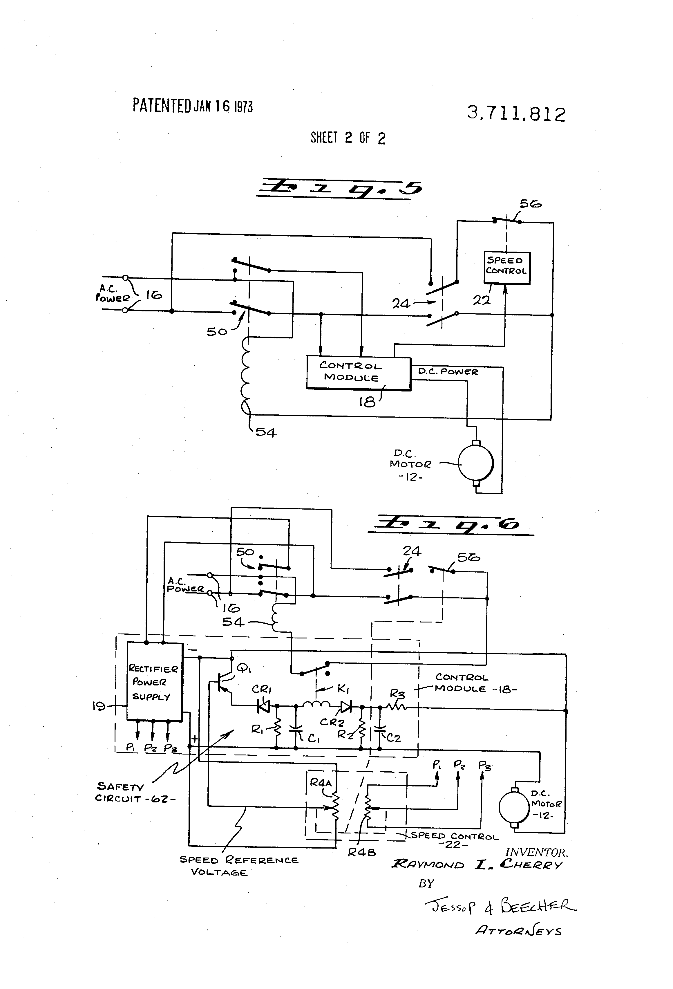 US3711812 2 patent us3711812 drive and control system for diagnostic and treadmill motor wiring diagram & testing procedures at bayanpartner.co