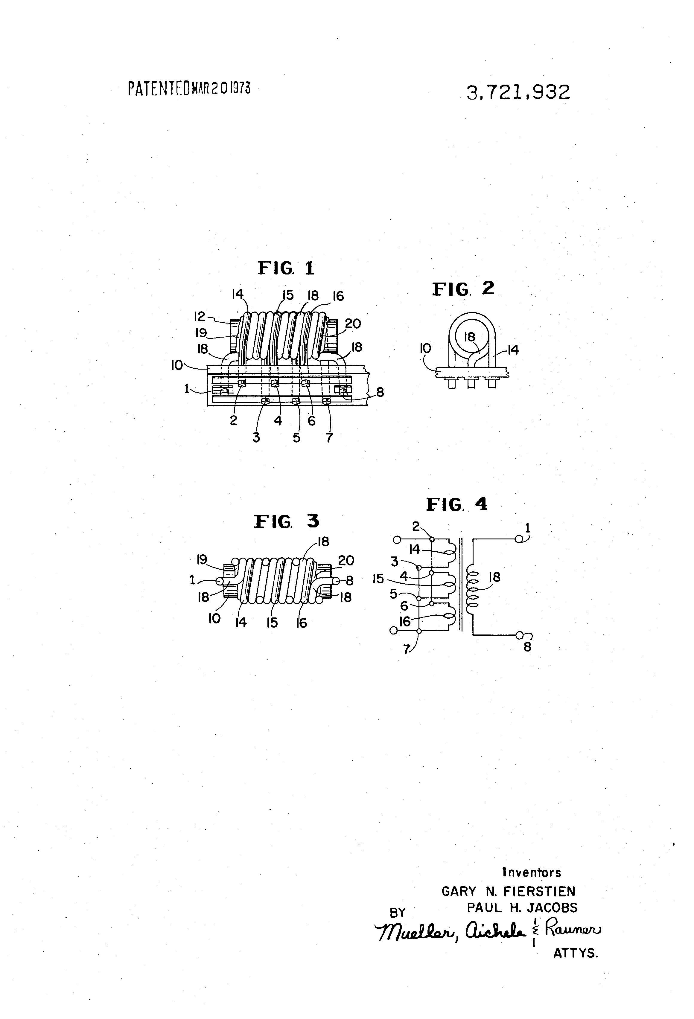 Patent US3721932 - Broadband radio frequency ferrite