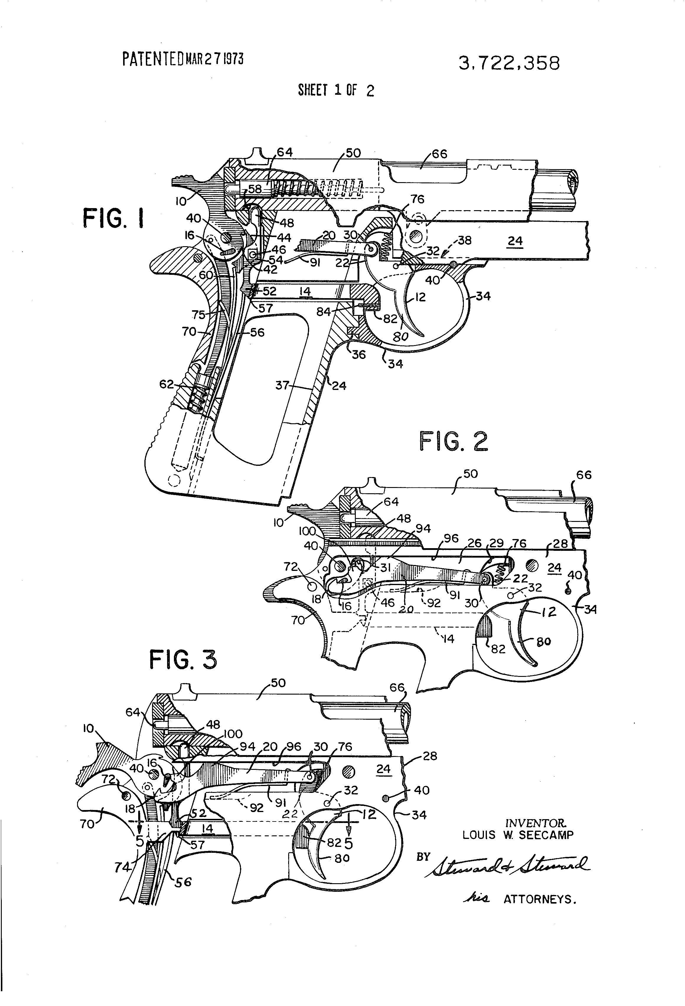 Patent Us3722358 Combined Single And Double Action