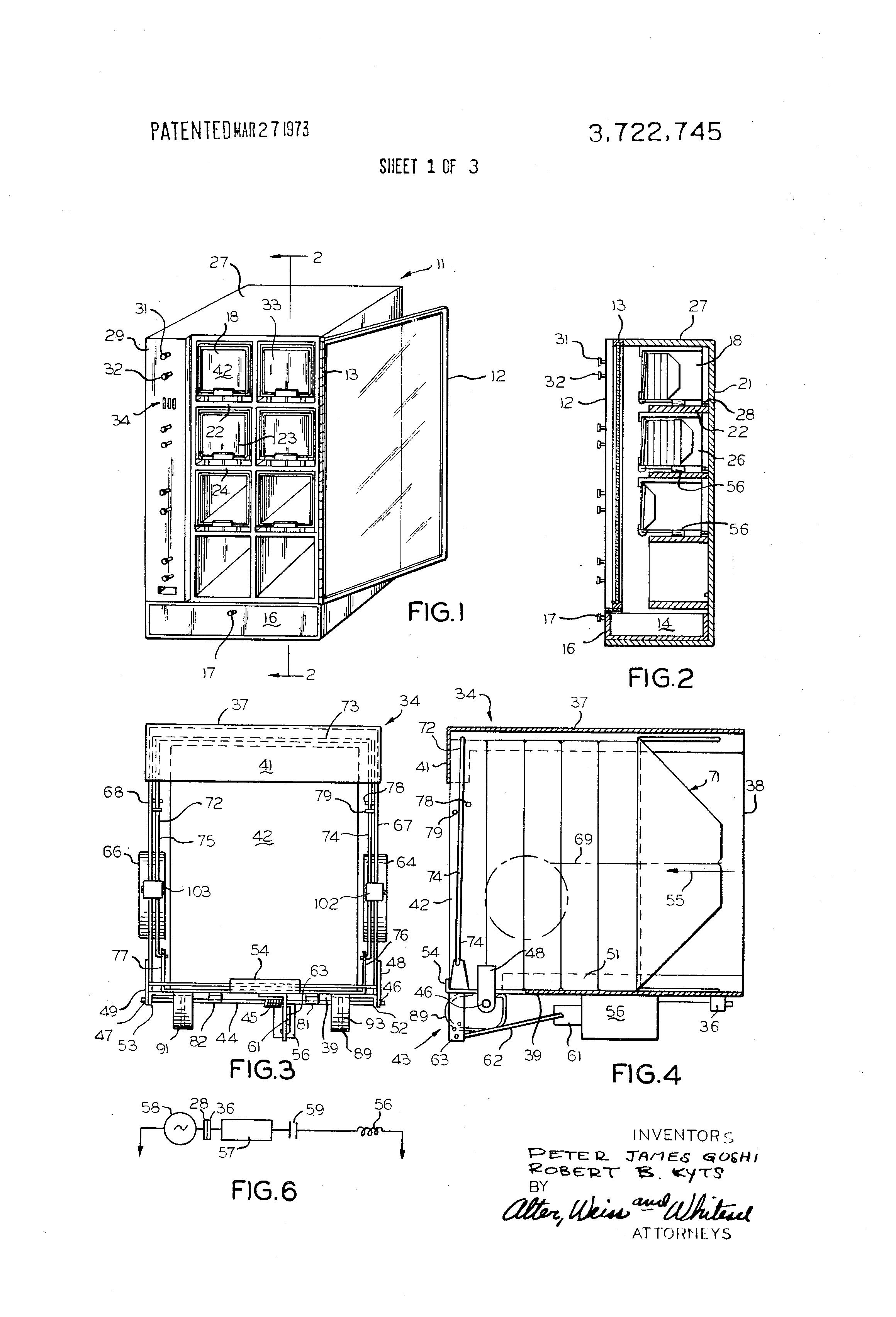 Patent Us3722745 Modular Vending Machine Having Trap