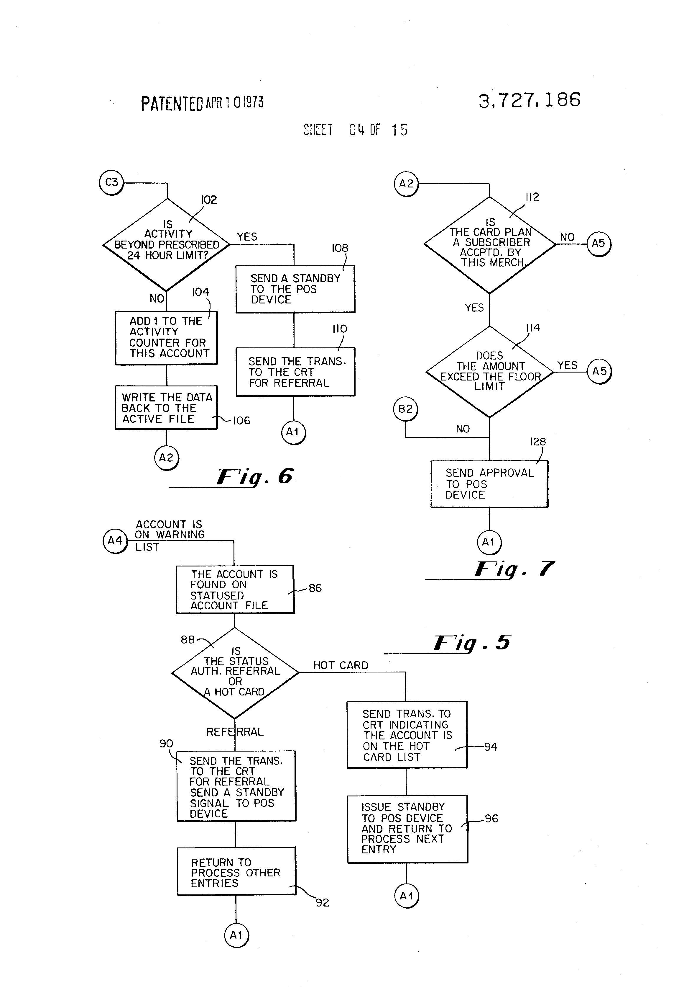Patent Us3727186 Method Of And Apparatus For Credit
