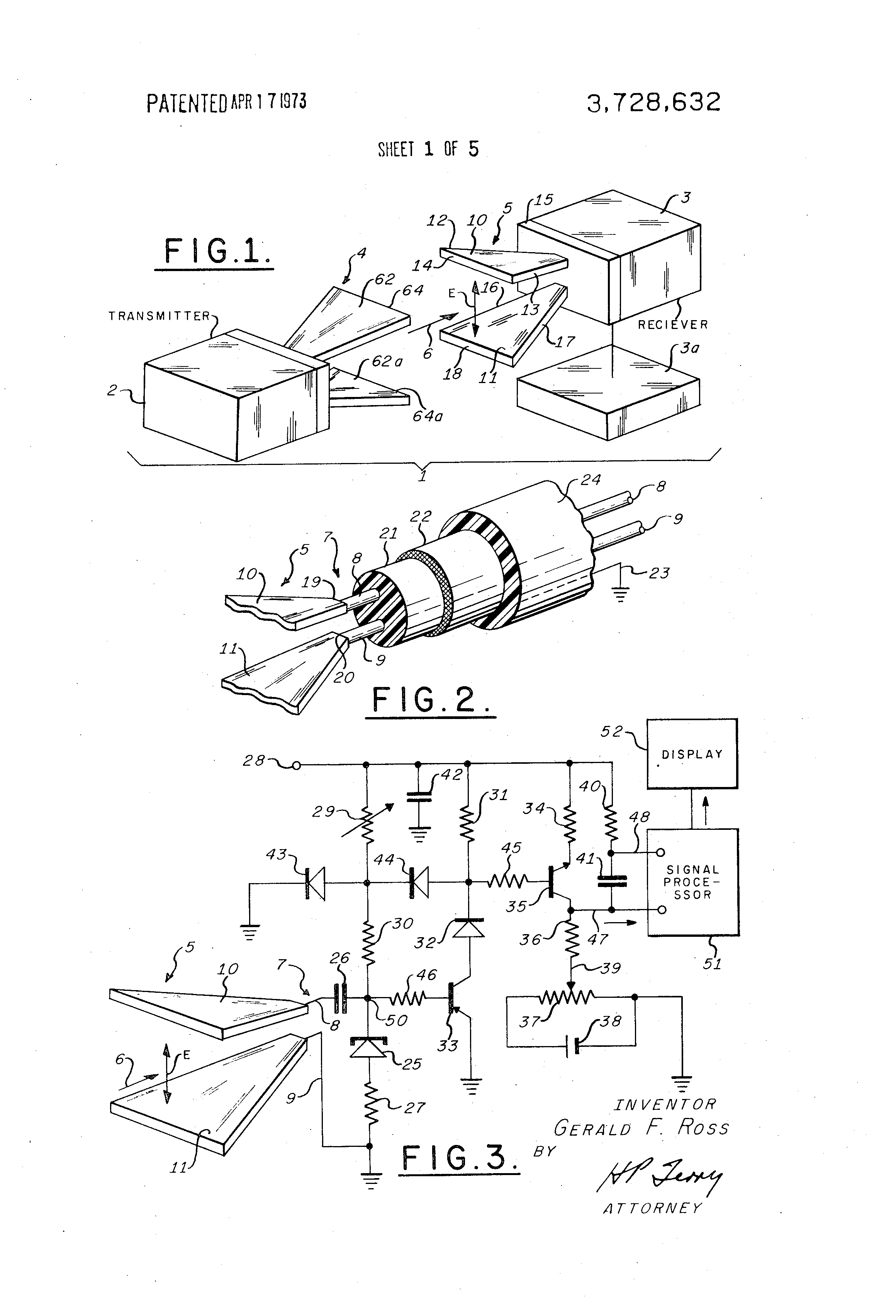 patent us3728632 transmission and reception system for generating Communication Receiver patent drawing