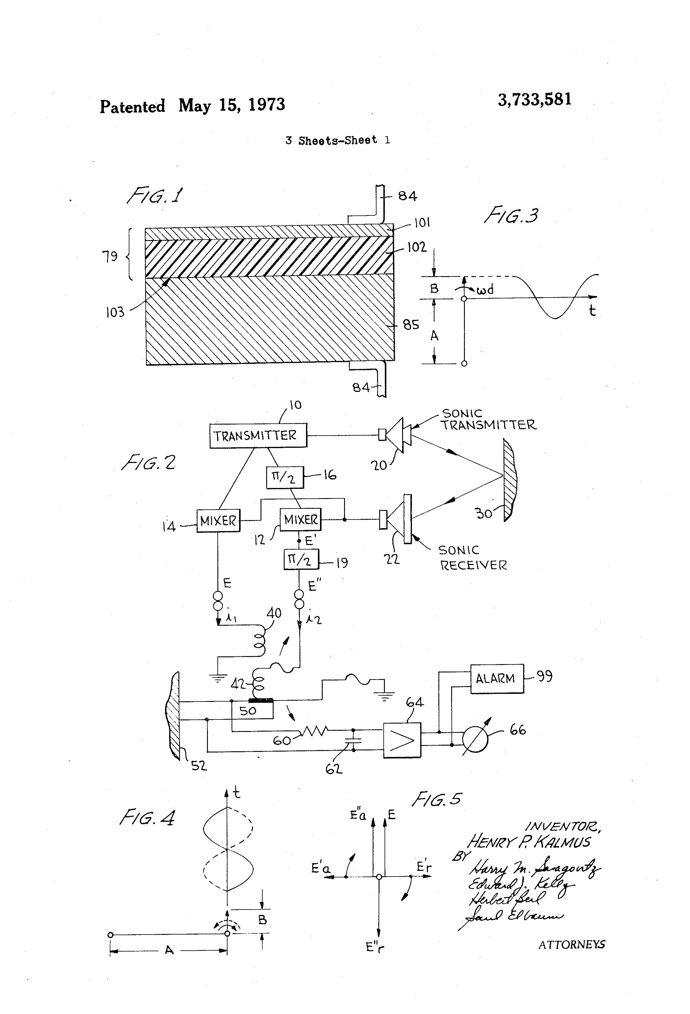 Patent US3733581 - Acoustic doppler wave recognition ... on