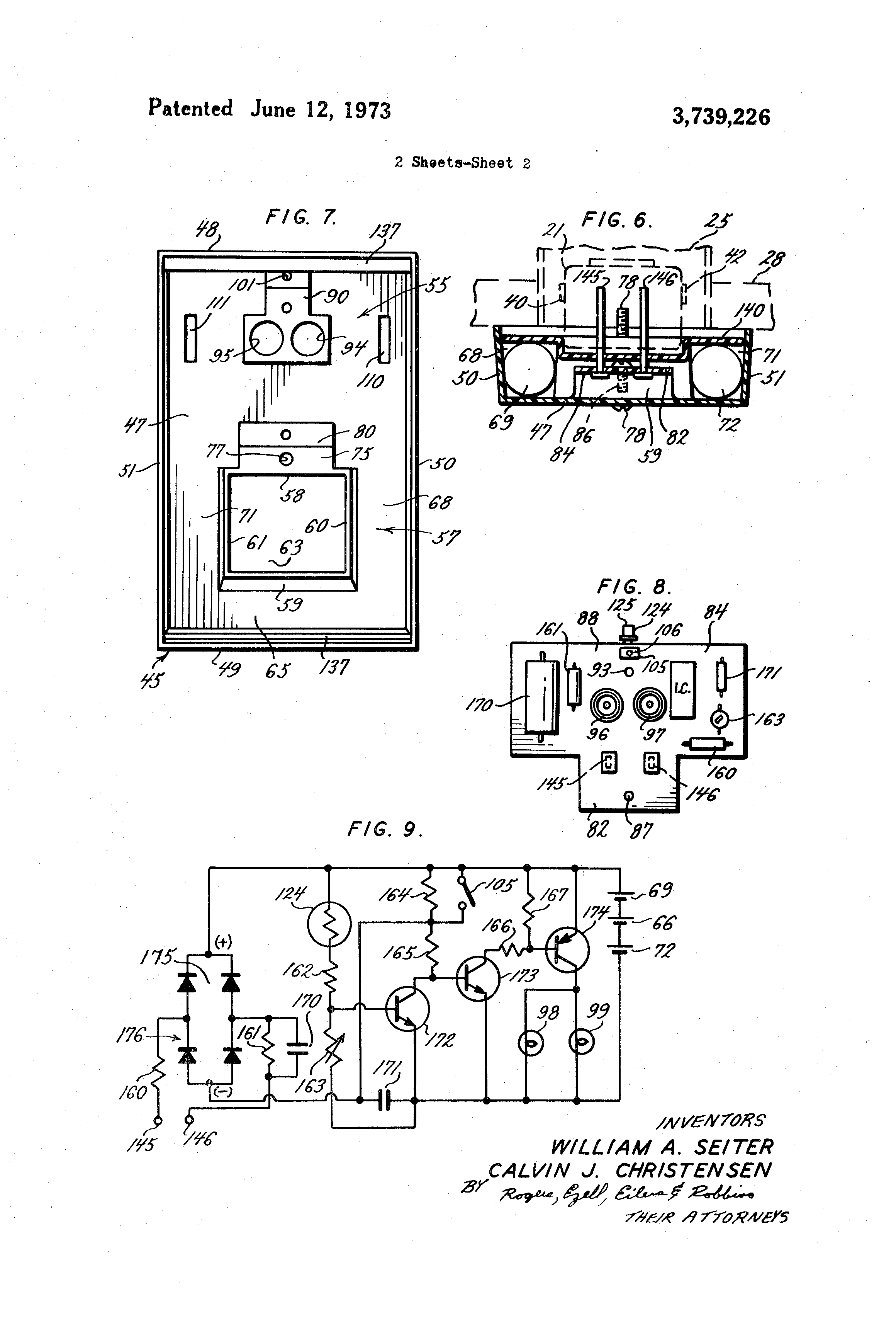 Patent Us3739226 - Emergency Light Unit For Mounting To An Electrical Wall Outlet