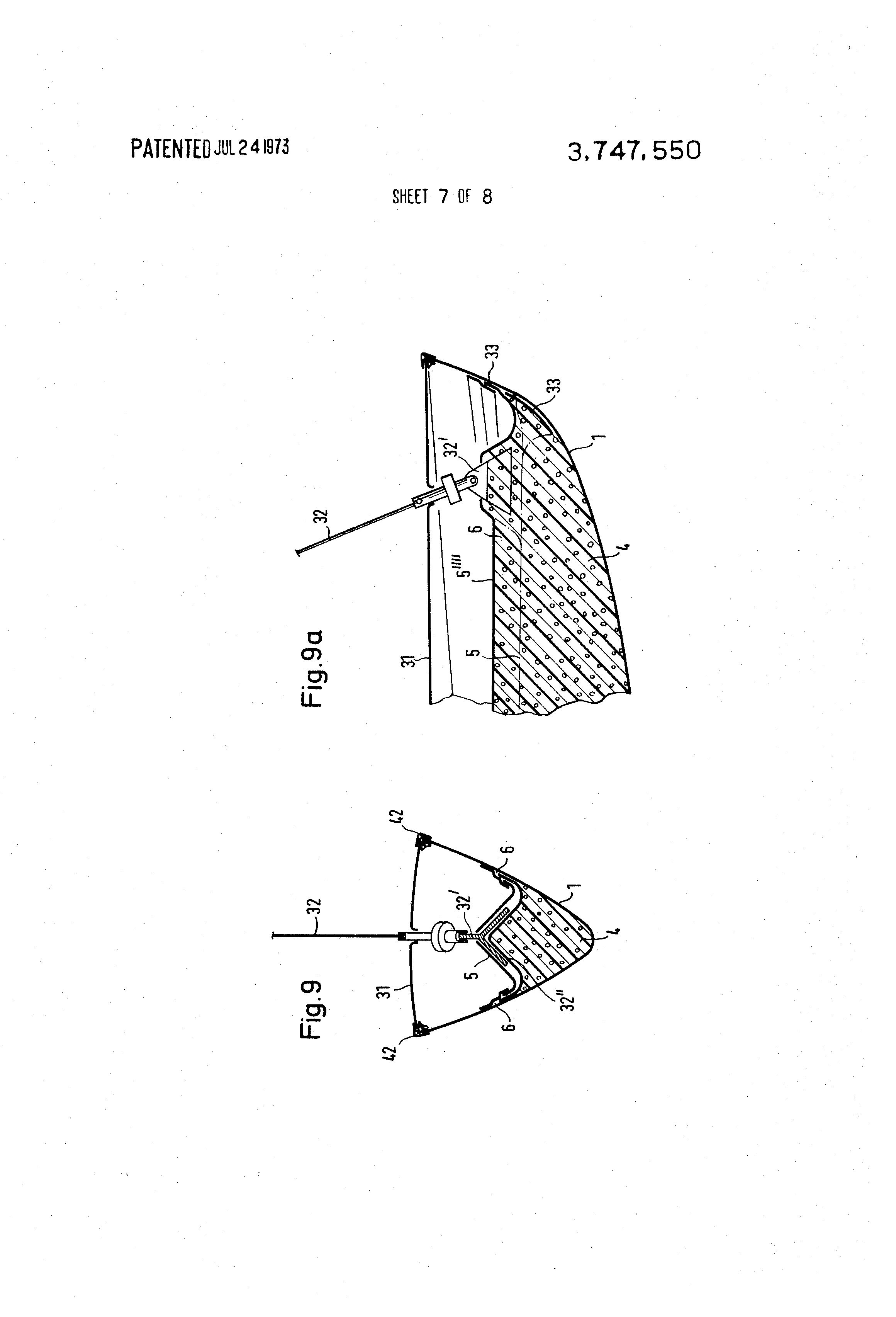 patent us3747550 plastic sailboat body and keel assembly