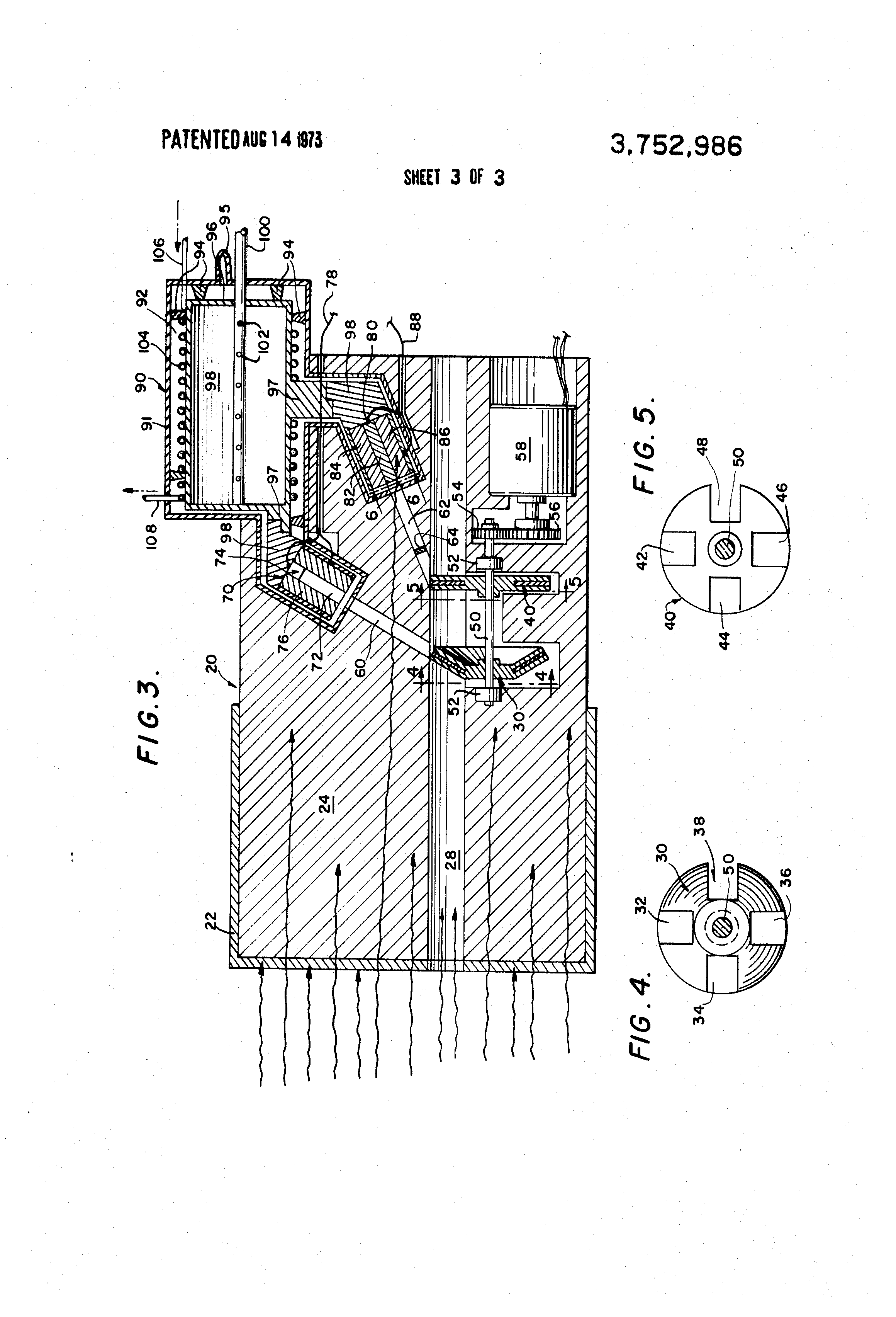 patent us3752986 - compton scatter attenuation gamma ray spectrometer