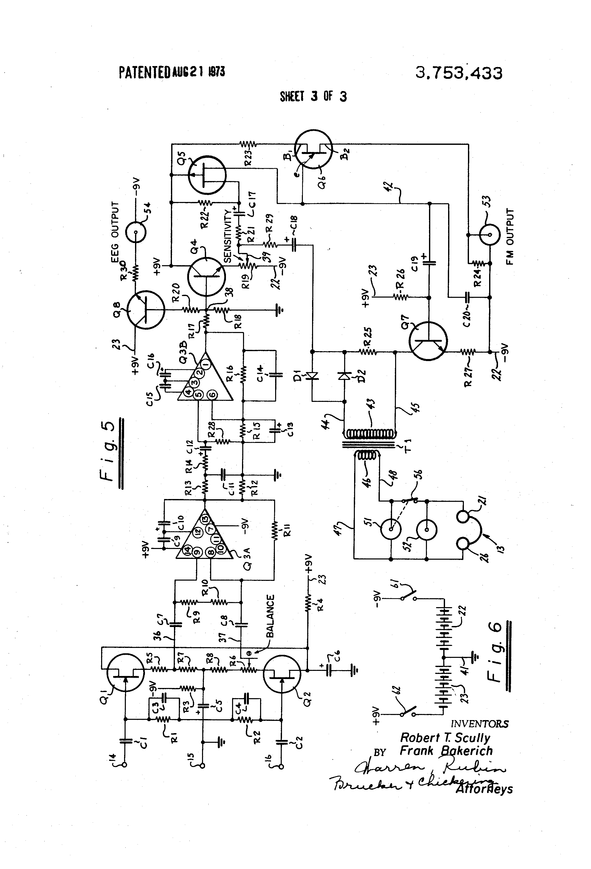 US3753433 3 patent us3753433 electroencephalophone and feedback system scully system wire diagram at bayanpartner.co