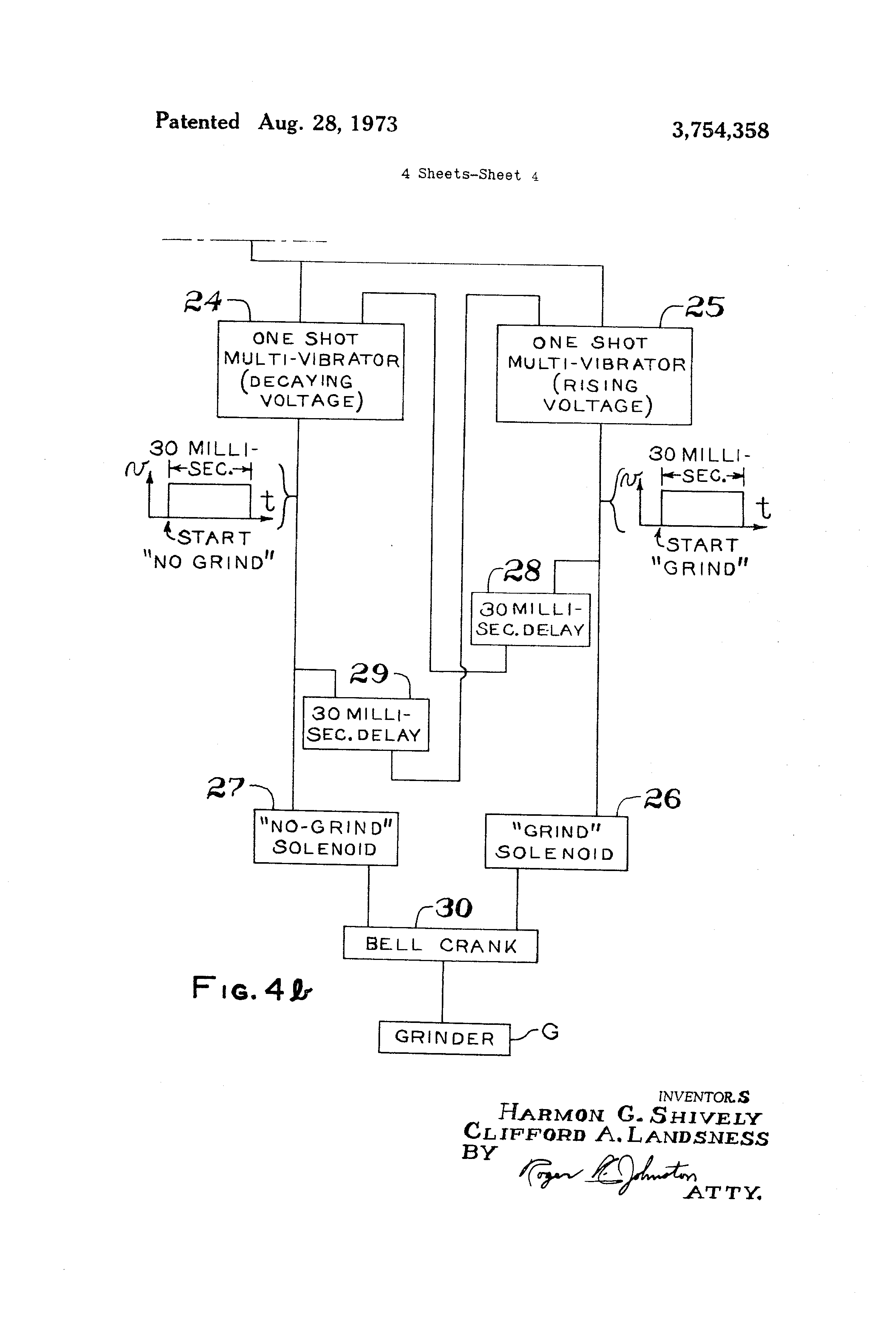 Brevet Us3754358 Method For Correcting Non Uniformity In A Often Called One Shot Multivibrator Is Pulse Generating Circuit Patent Drawing