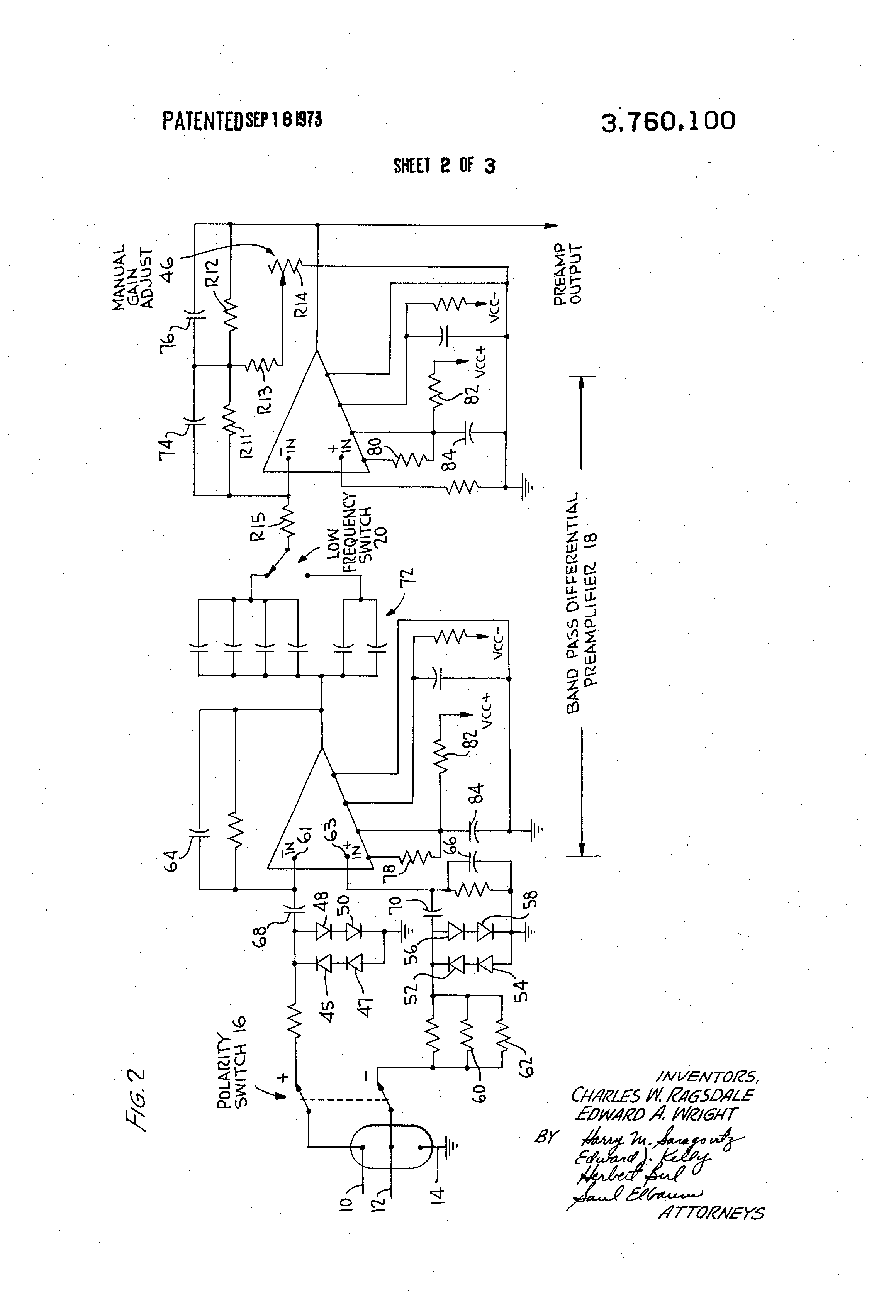 Patent Us3760100 Audio Electrocardiogram Monitor Google Patents I Want The Aural Modulator Circuits Available All Over World Drawing