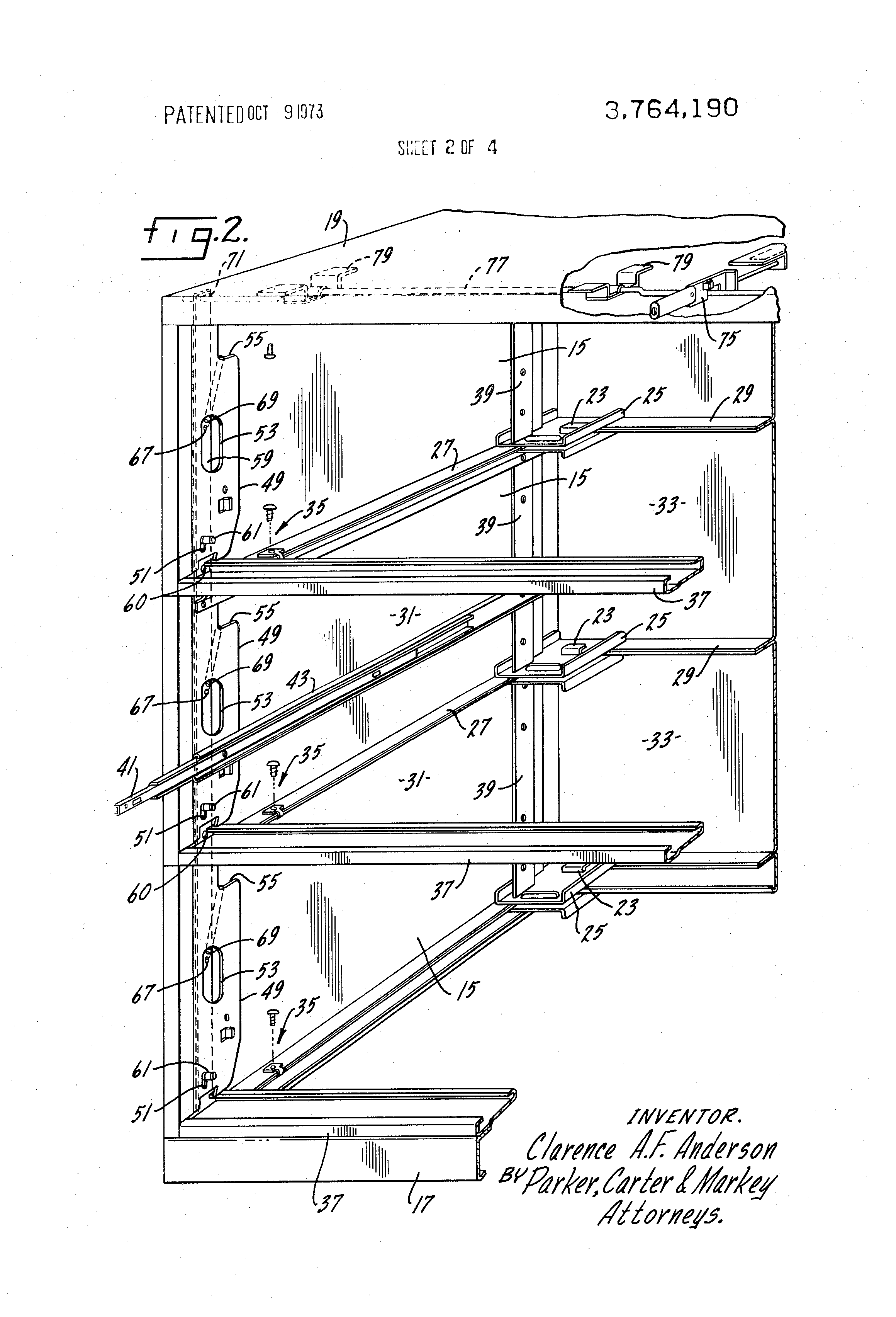 Patent US3764190 - Lateral file - Google Patents